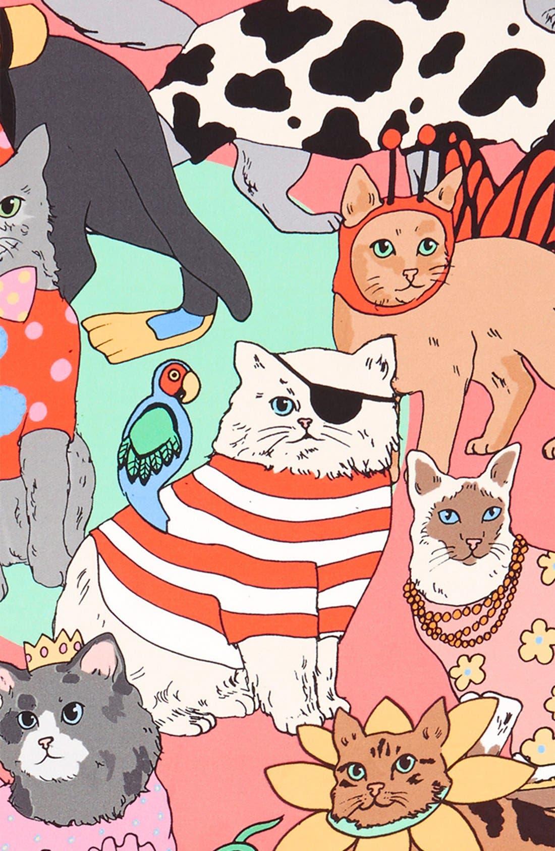Alternate Image 3  - Karen Mabon 'Fancy Dress Cats' Silk Square Scarf