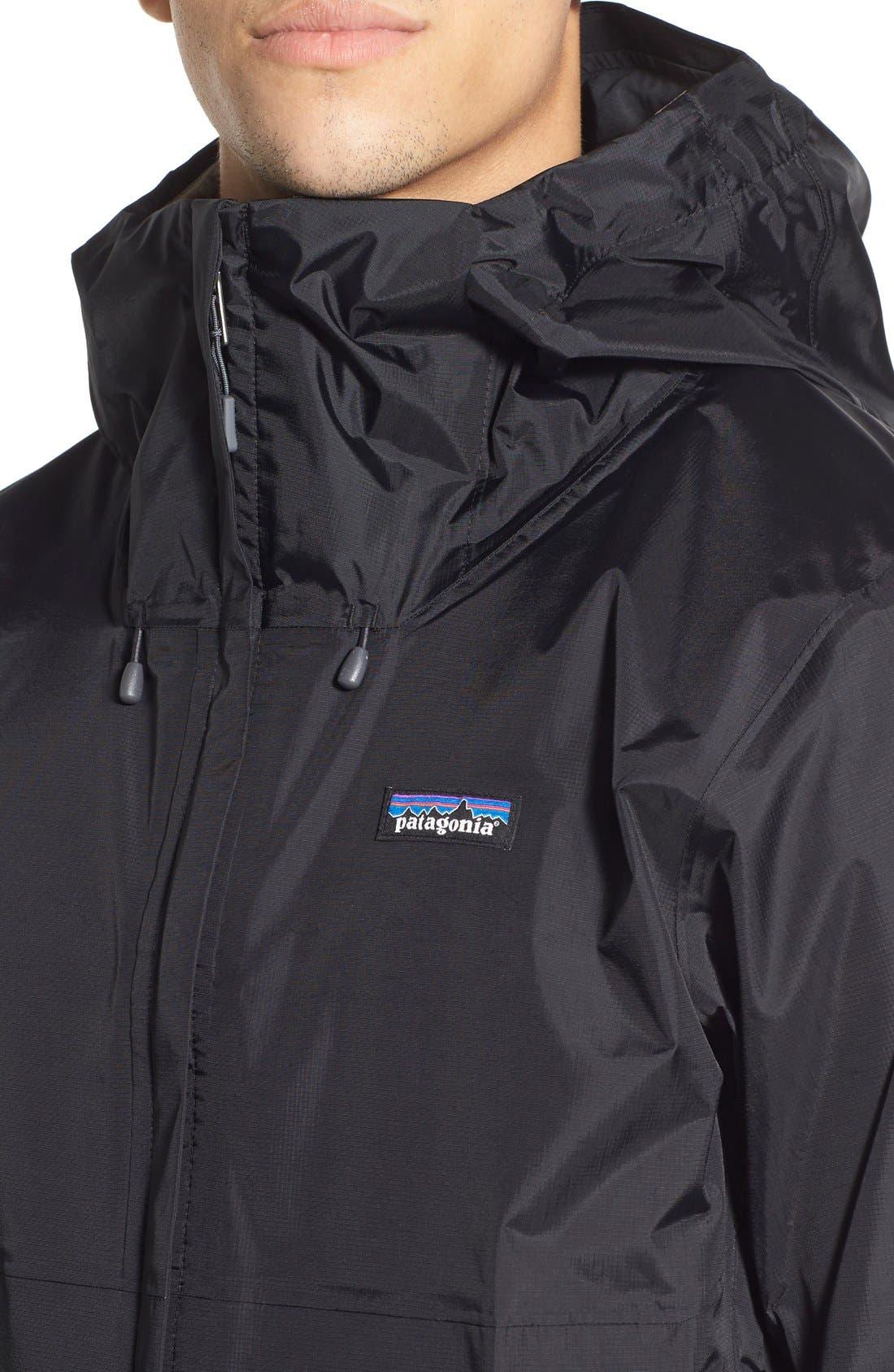 'Torrentshell' Packable Rain Jacket,                             Alternate thumbnail 4, color,                             Black