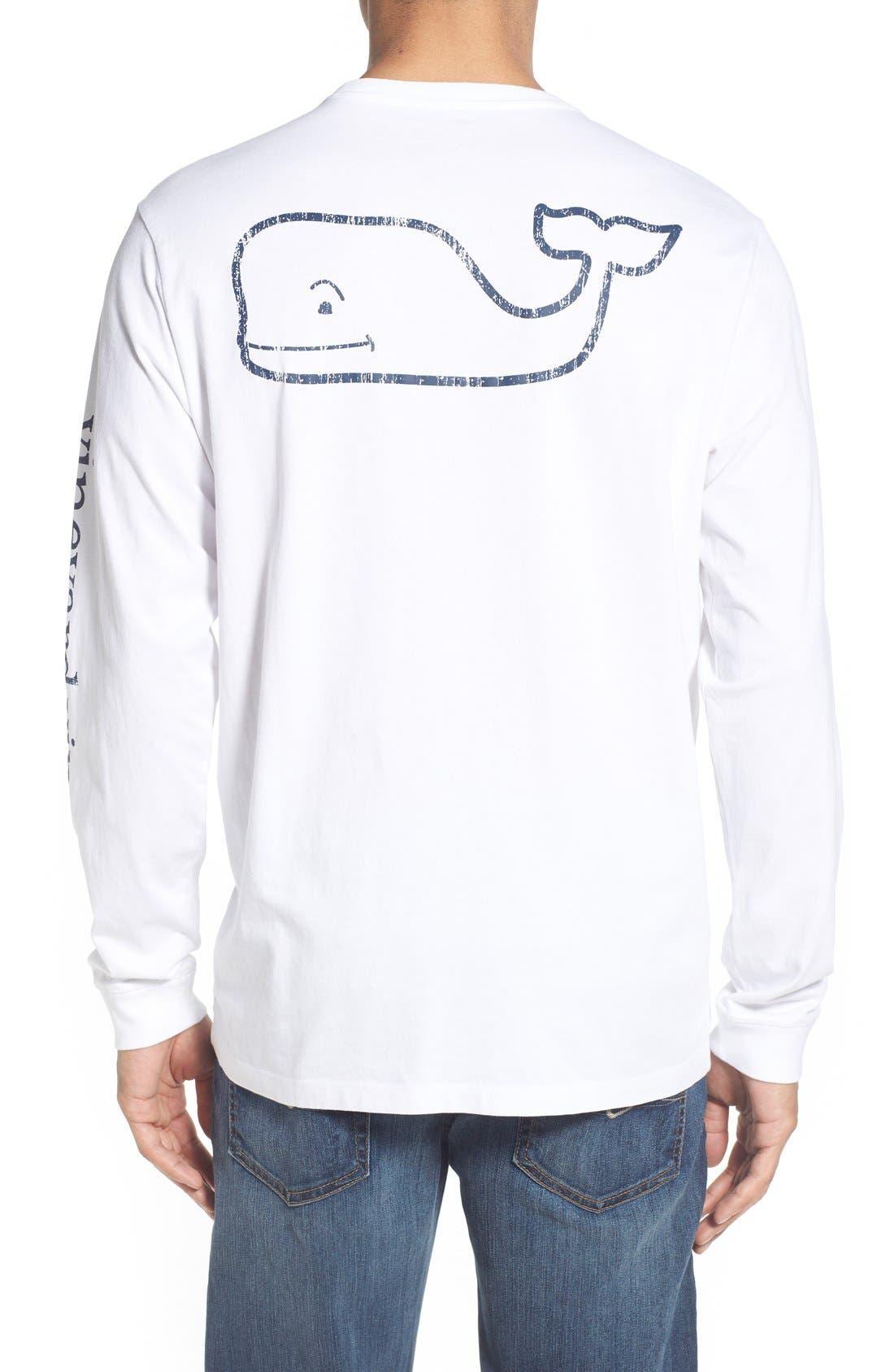 Pocket Long Sleeve T-Shirt,                         Main,                         color, White Cap