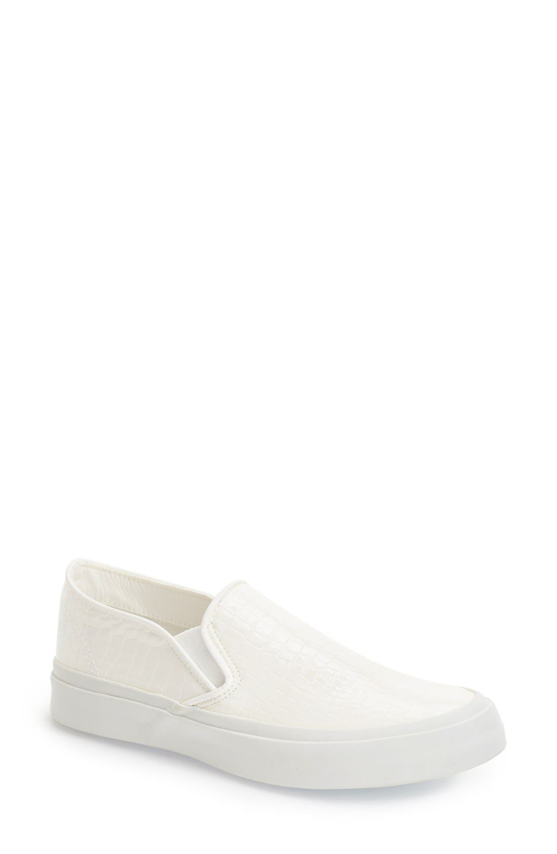 Slip-On Sneaker,                             Main thumbnail 1, color,                             White