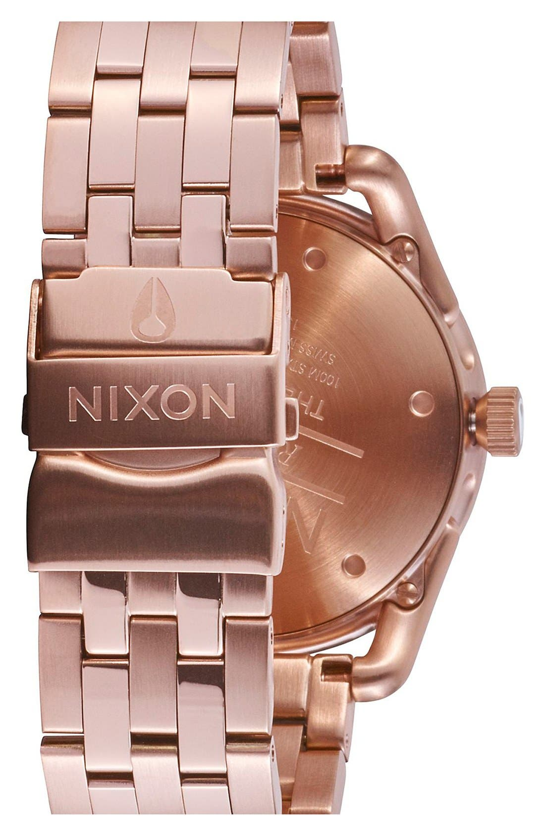 'C39' Bracelet Watch, 39mm,                             Alternate thumbnail 2, color,                             Rose Gold/ Black