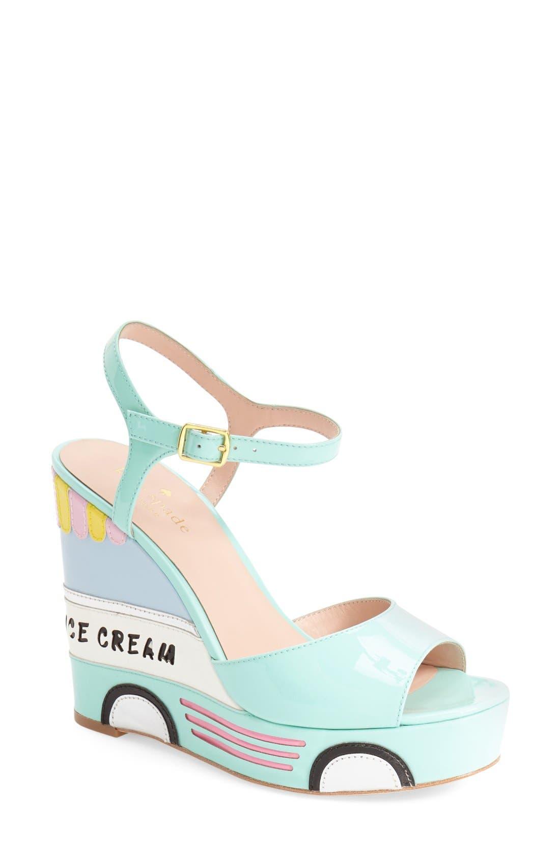 Alternate Image 1 Selected - kate spade new york 'dotty' wedge sandal (Women)