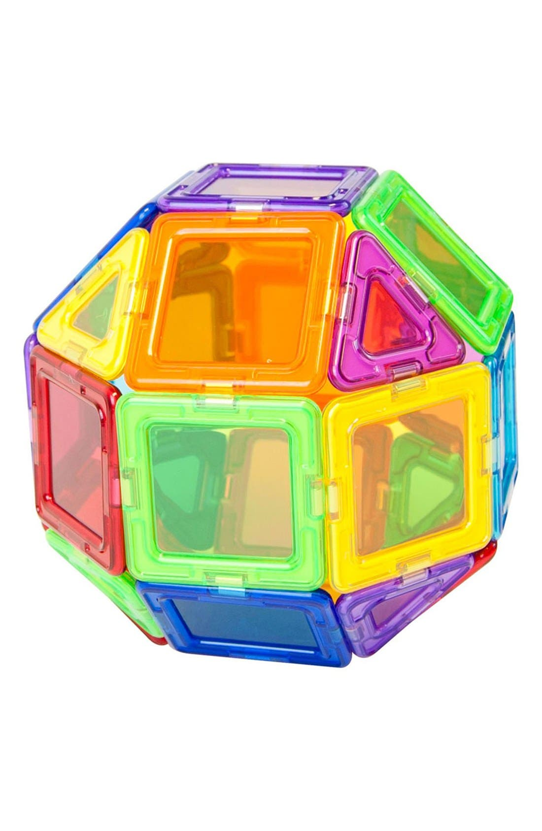 'Standard - Solids' Clear Magnetic 3D Construction Set,                             Alternate thumbnail 6, color,                             Rainbow