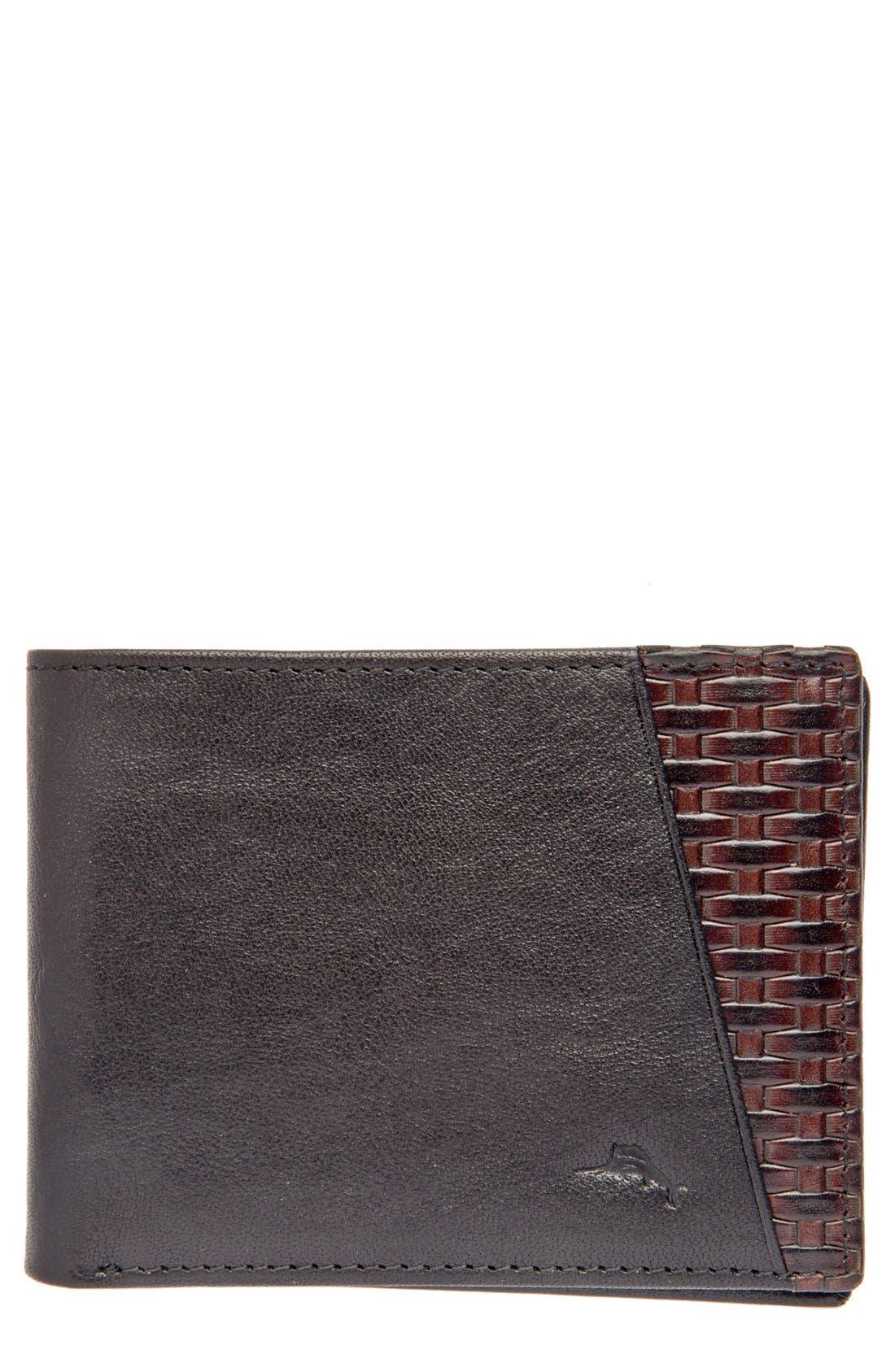 Main Image - Tommy Bahama 'Basketweave' Leather Wallet