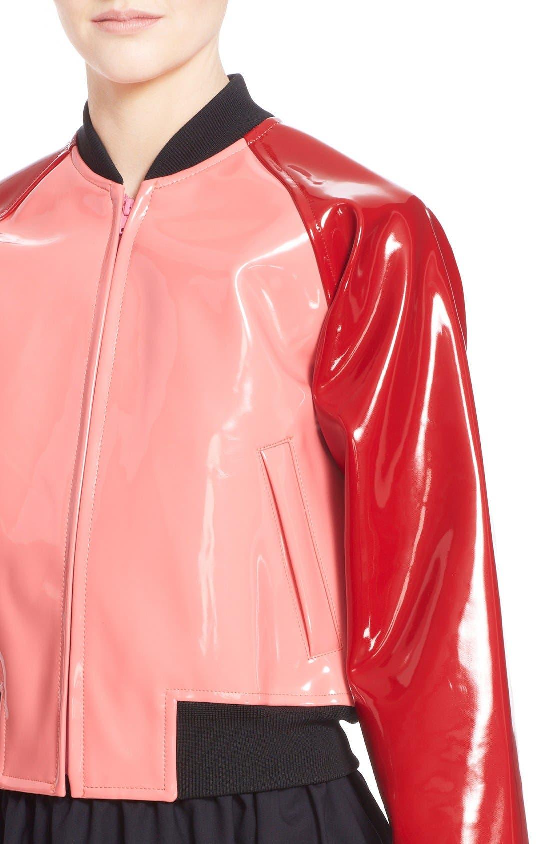 Alternate Image 6  - Comme des Garçons 'Enamel' Faux Leather Bomber Jacket