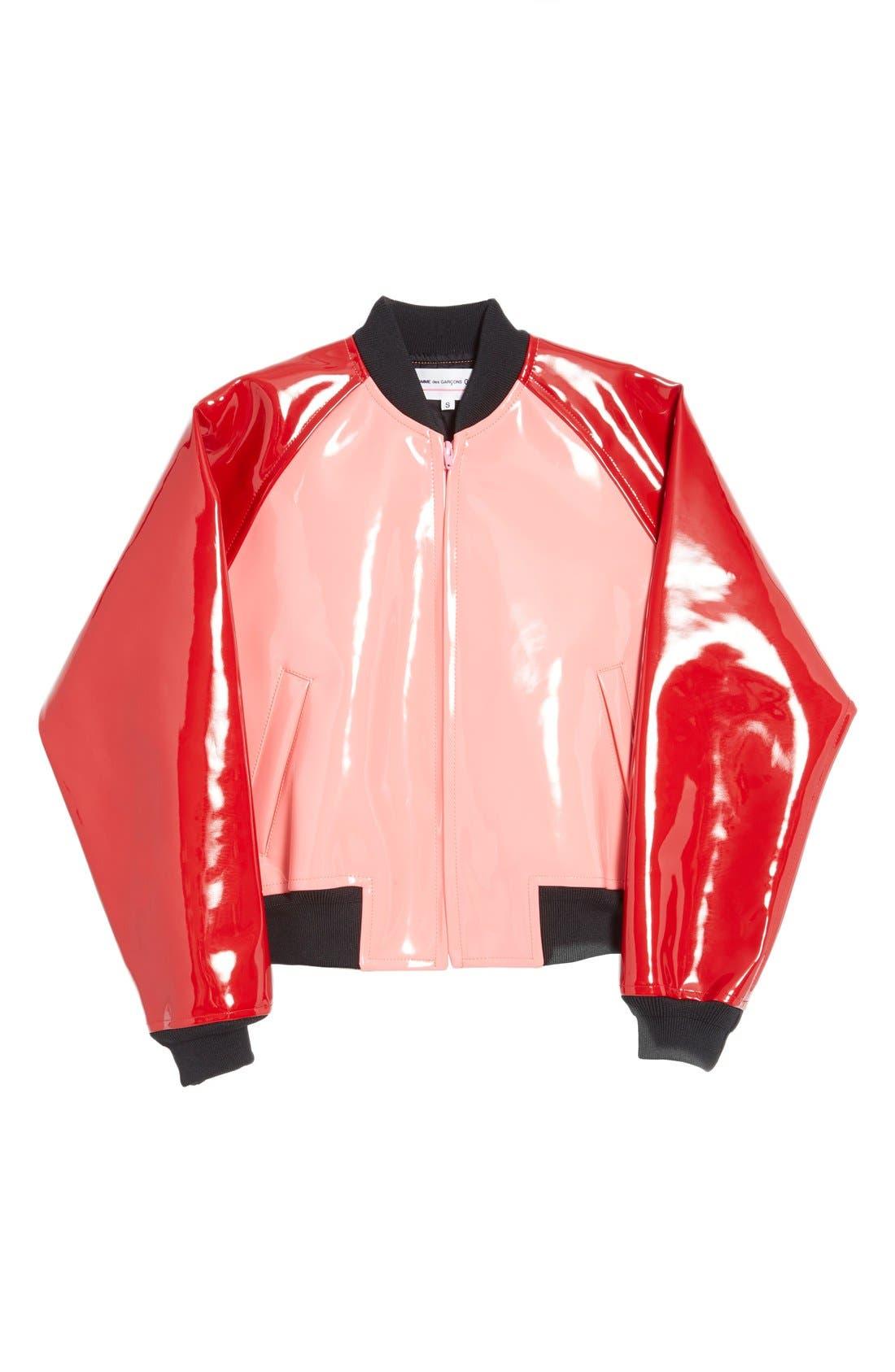 Alternate Image 4  - Comme des Garçons 'Enamel' Faux Leather Bomber Jacket