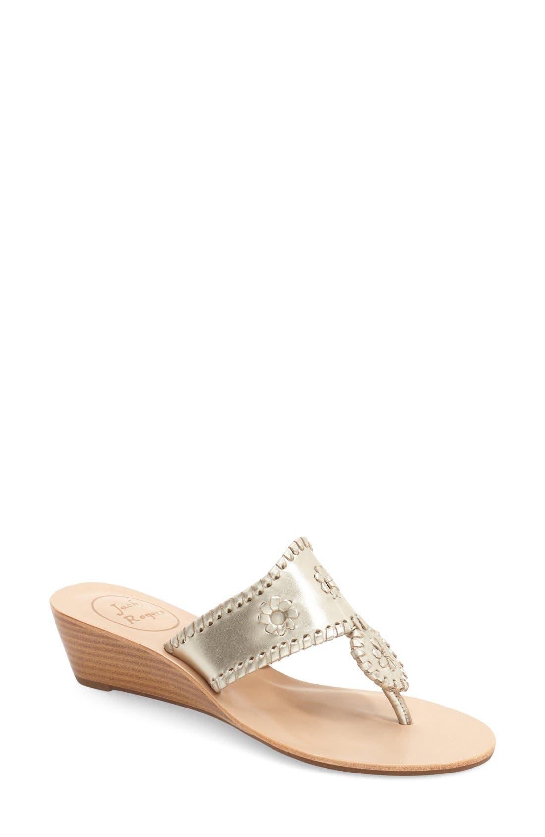 Jack Rogers 'Jacks' Wedge Sandal (Women)