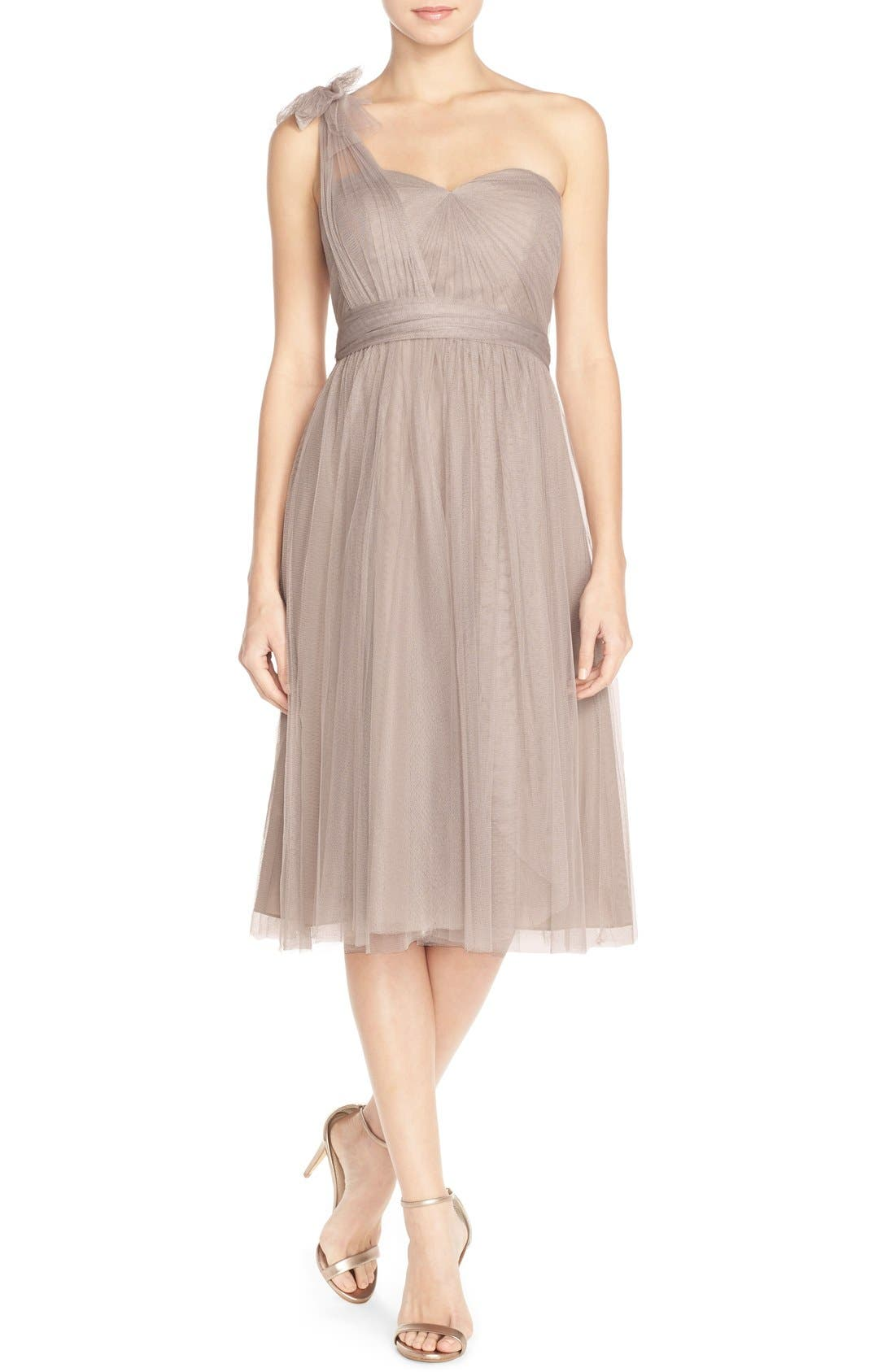 Alternate Image 3  - Jenny Yoo 'Maia' Convertible Tulle Tea Length Fit & Flare Dress