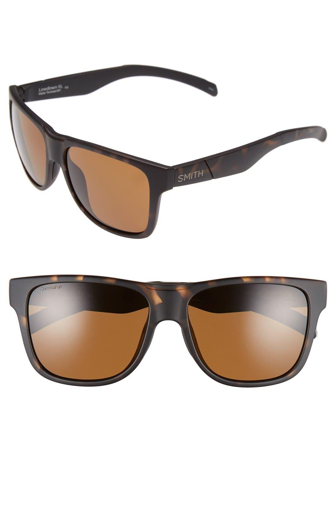 'Lowdown XL' 58mm Polarized Sunglasses,                         Main,                         color, Matte Tortoise/ Polar Brown