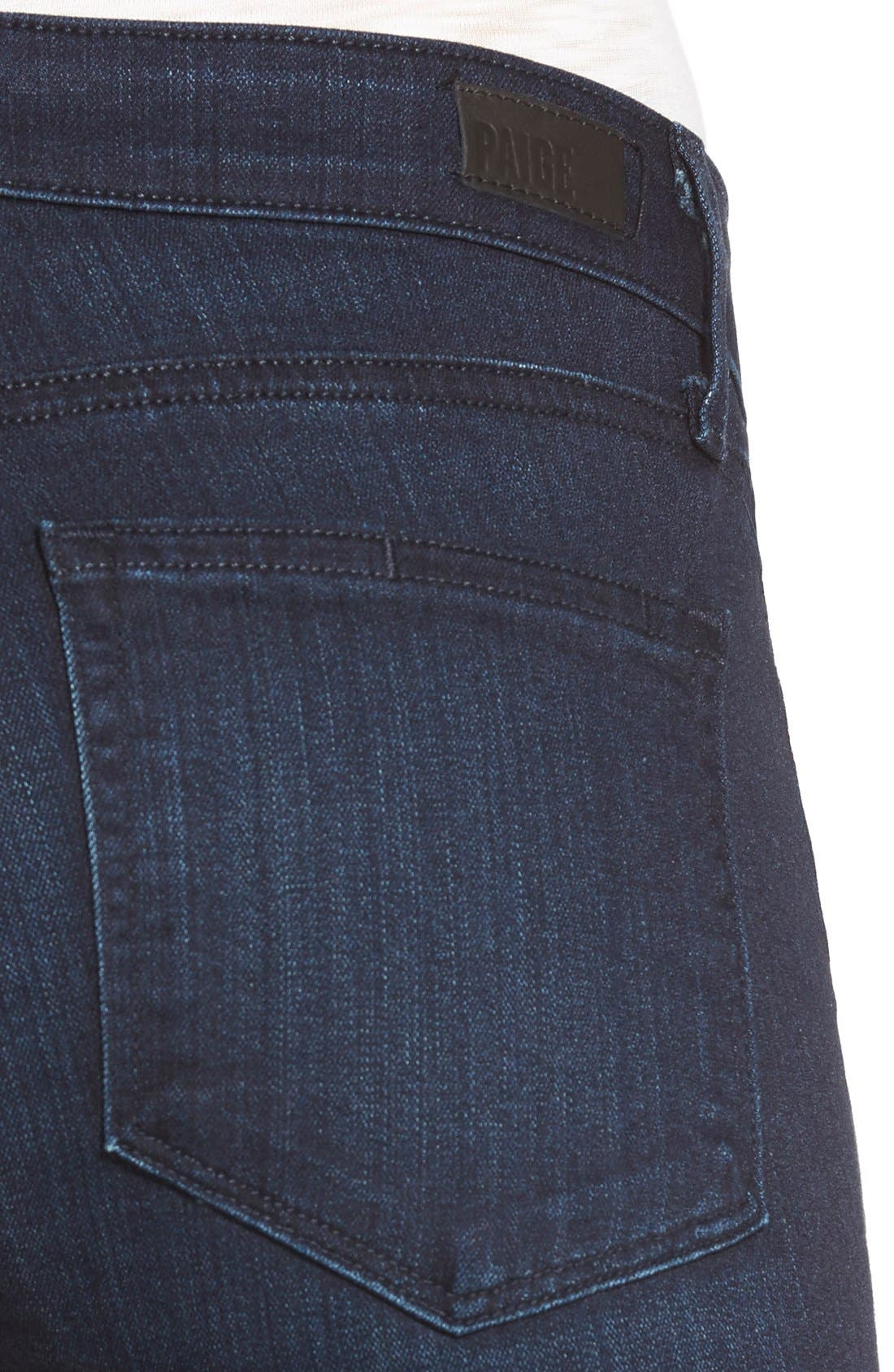 Alternate Image 4  - PAIGE 'Skyline' Skinny Jeans (Everdeen) (Nordstrom Exclusive)