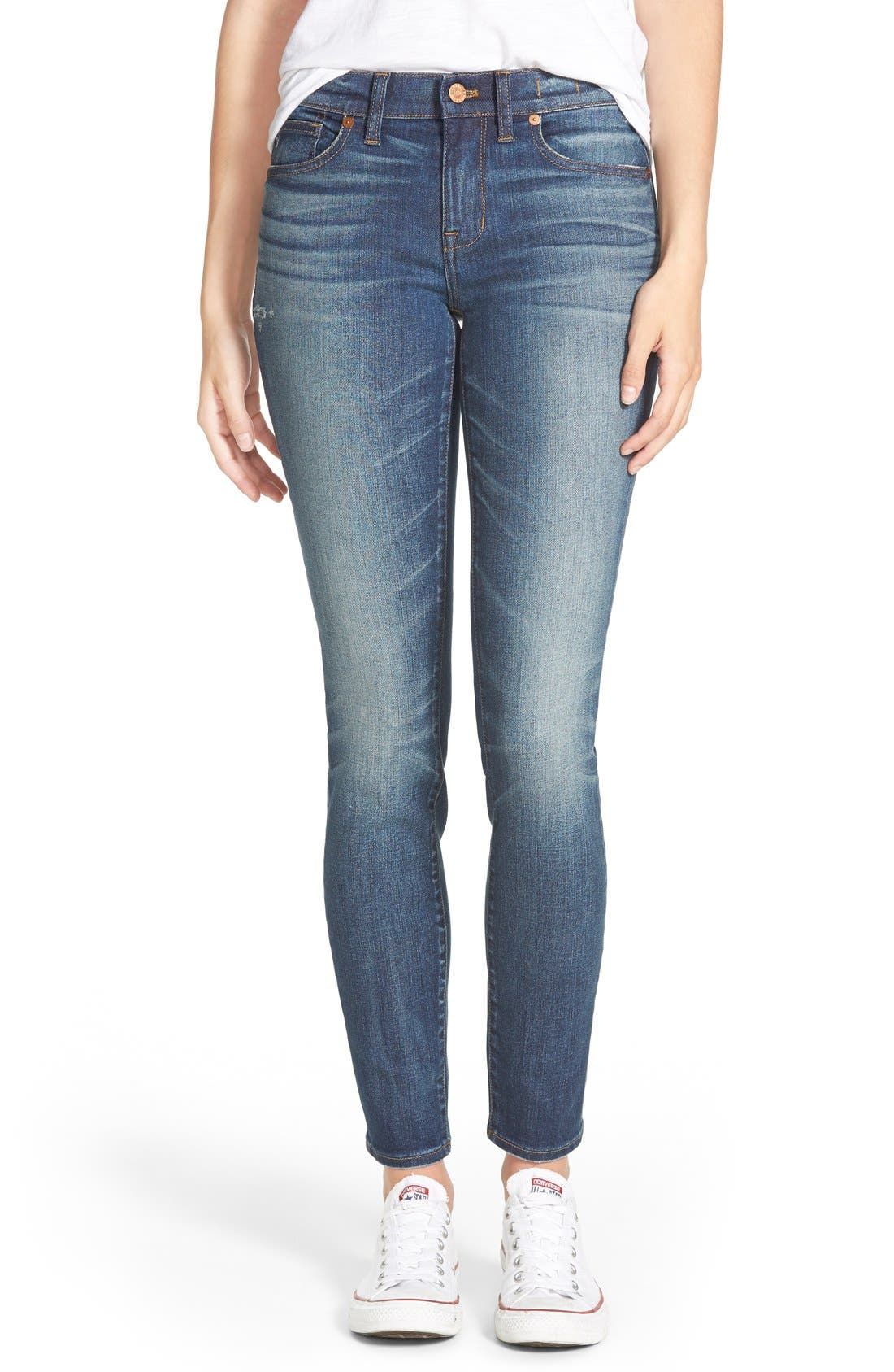 Main Image - Madewell 'Skinny Skinny - Taller' Jeans (Edmonton Wash) (Long)