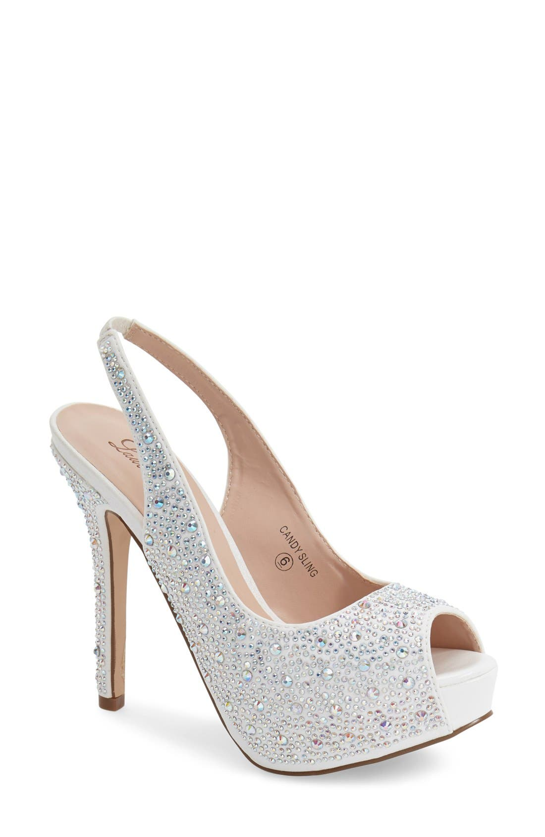Lauren Lorraine 'Candy' Crystal Slingback Pump (Women)