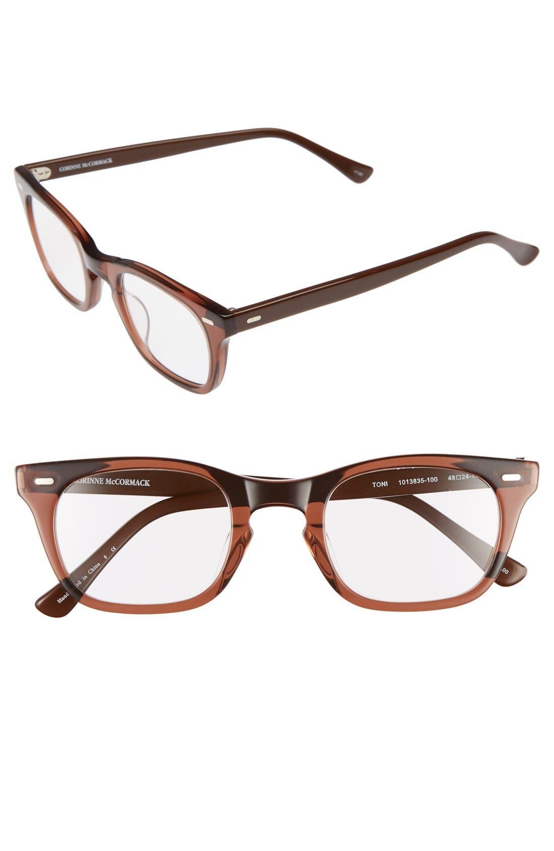 corinne mccormack toni 48mm reading glasses nordstrom