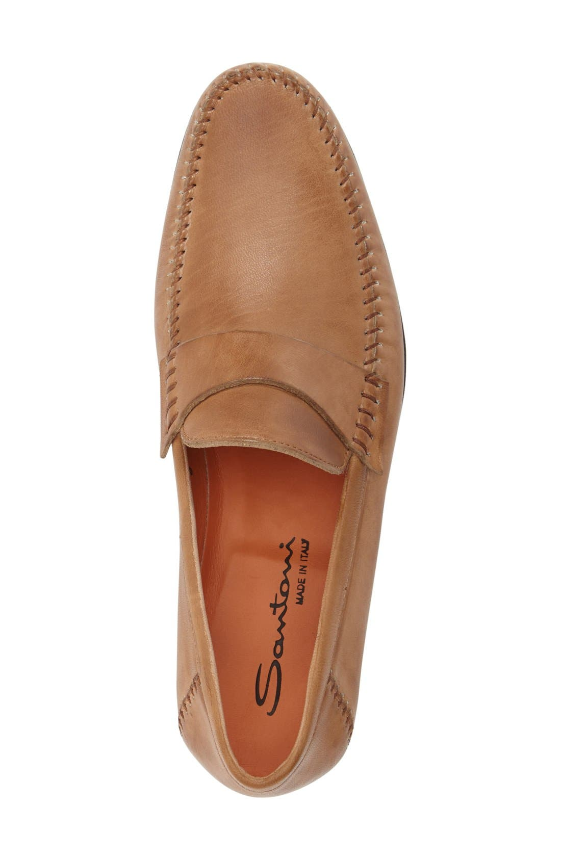 'Paine' Leather Loafer,                             Alternate thumbnail 3, color,                             Tan