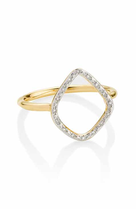 f8636815a Monica Vinader Riva Diamond Hoop Ring