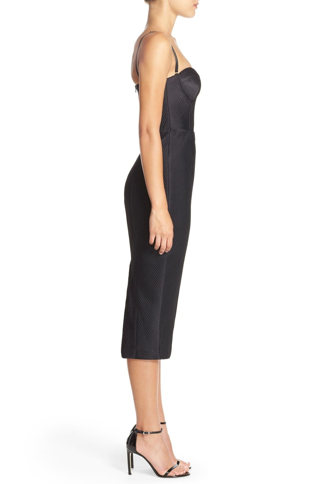 Alternate Image 3  - Misha Collection 'Byanca' Convertible Quilted Midi Dress