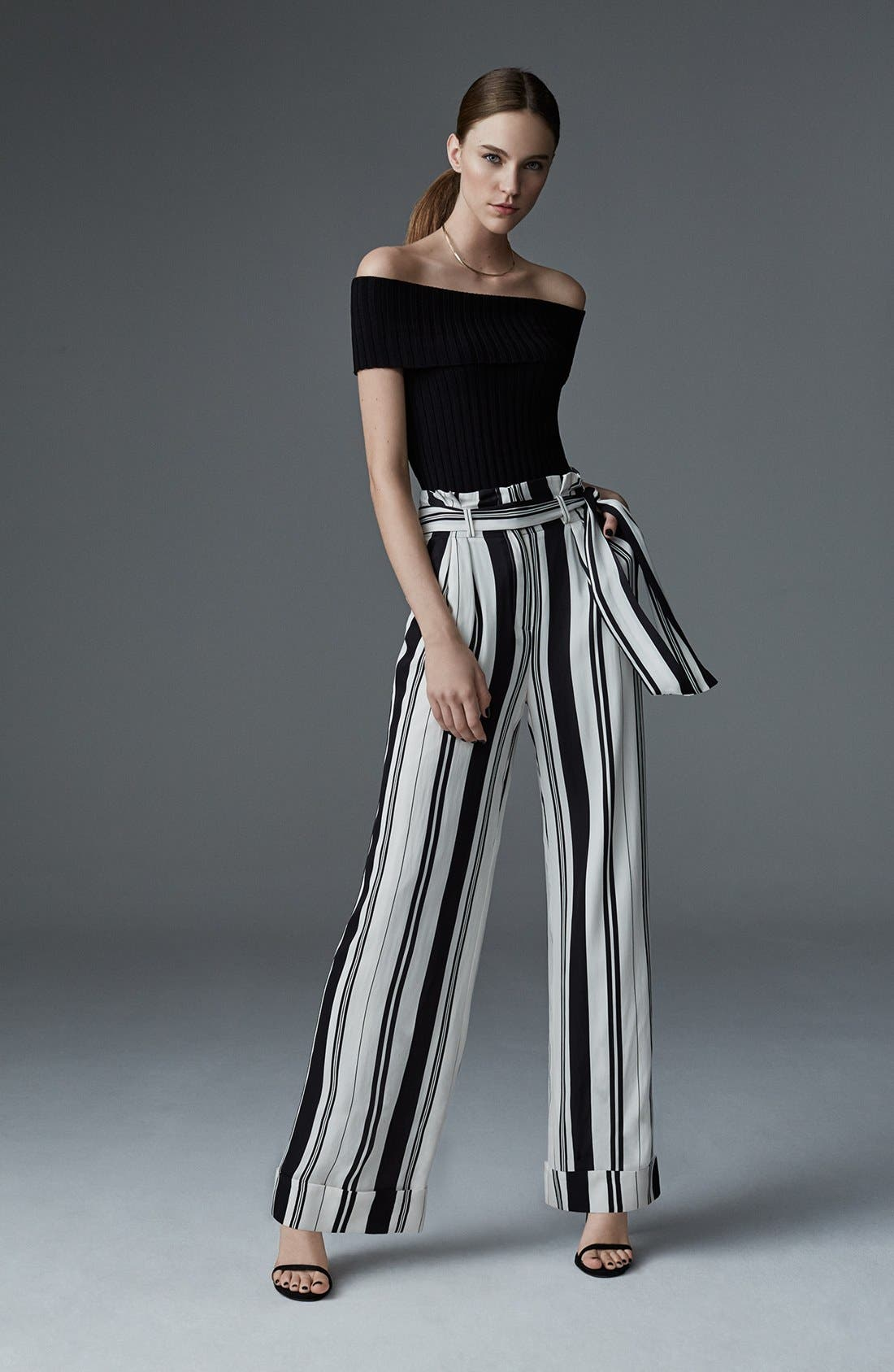 Alternate Image 6  - Olivia Palermo + Chelsea28 Rib Knit Off the Shoulder Sweater
