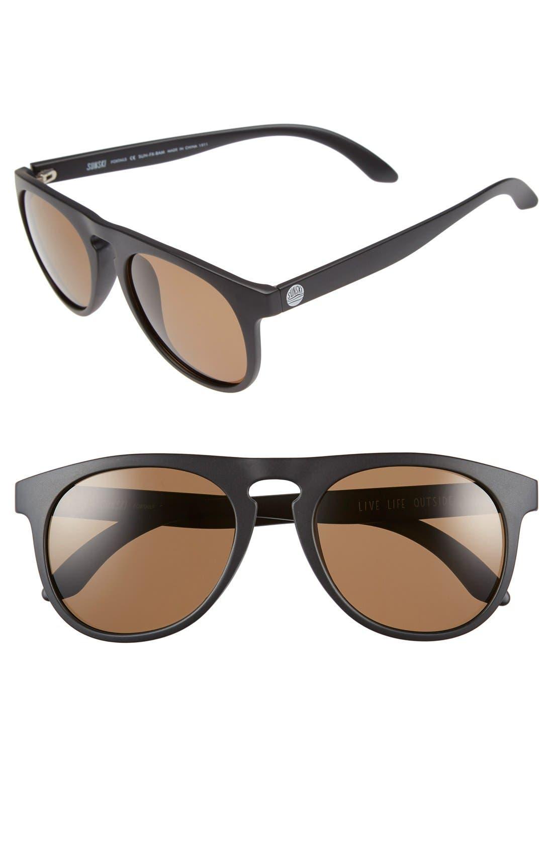 Sunski 'Foxtail' 52mm Polarized Aviator Sunglasses