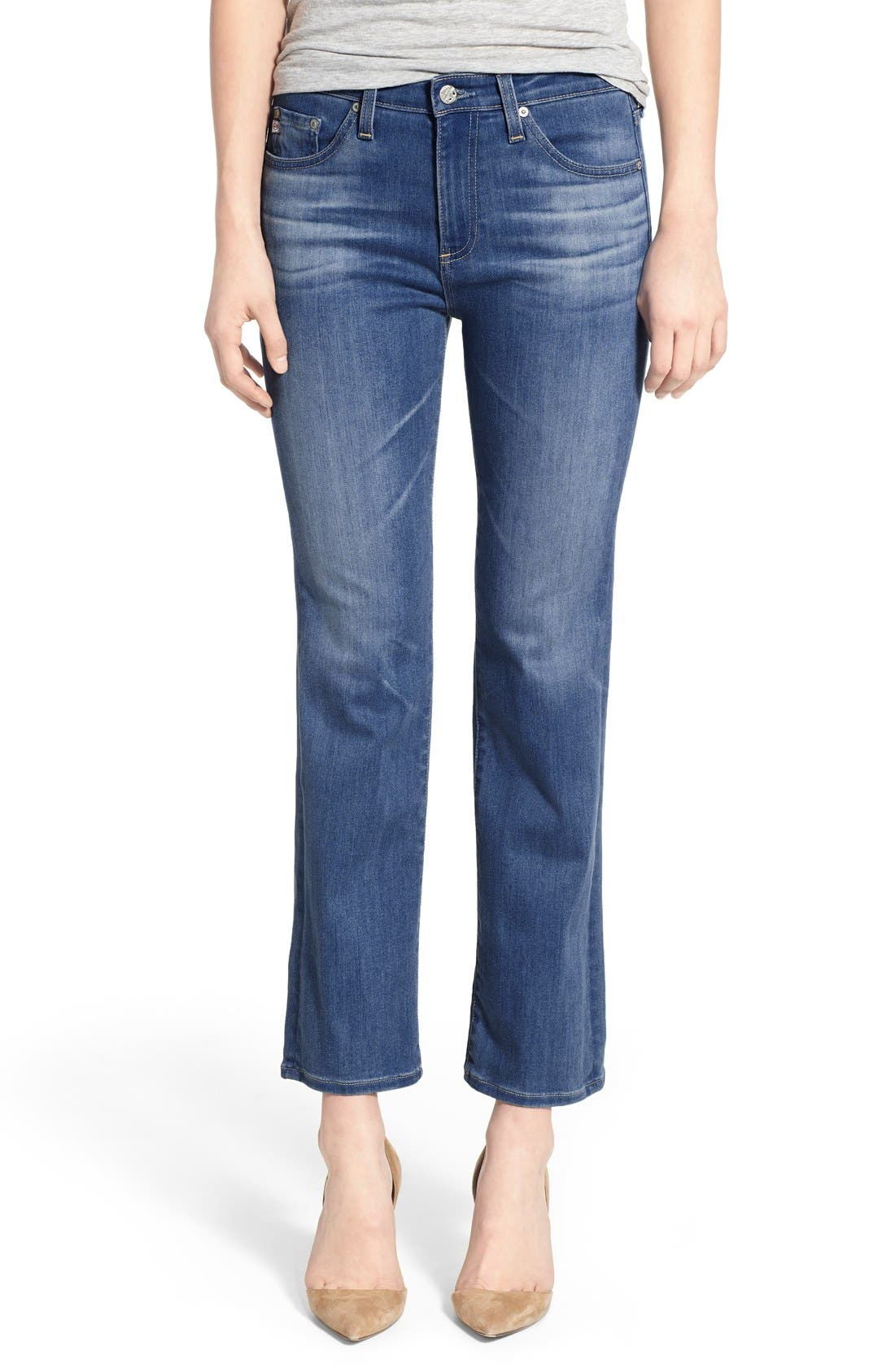 Main Image - AG 'Jodi' Crop Slim Flare Jeans (10 Years Liberation)