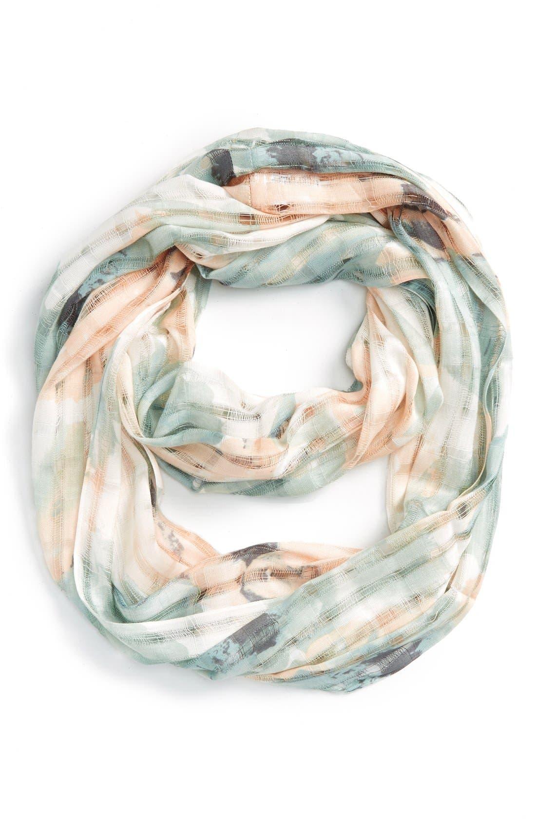 Alternate Image 1 Selected - BP. Floral Print Open Weave Scarf