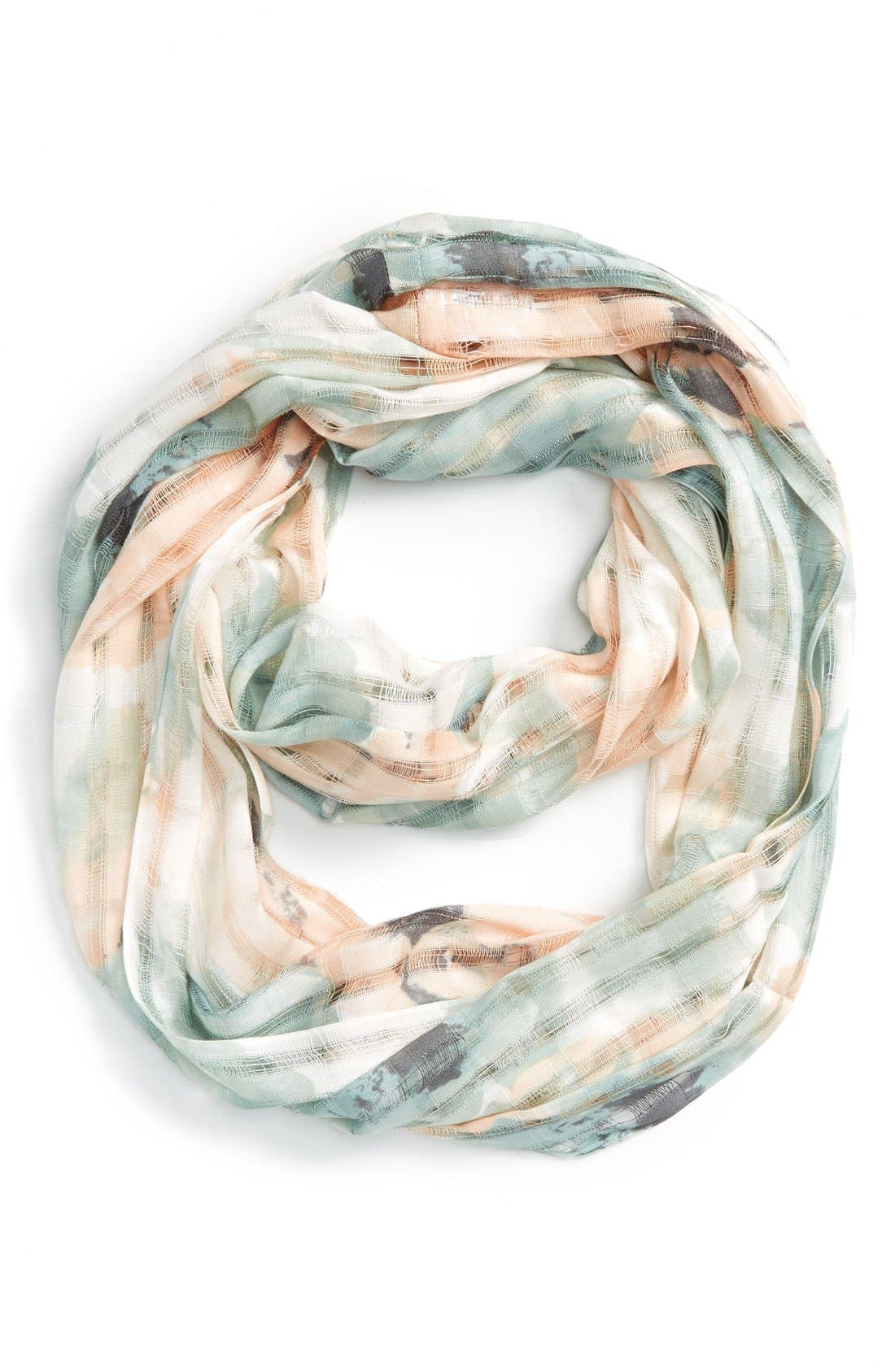 Main Image - BP. Floral Print Open Weave Scarf