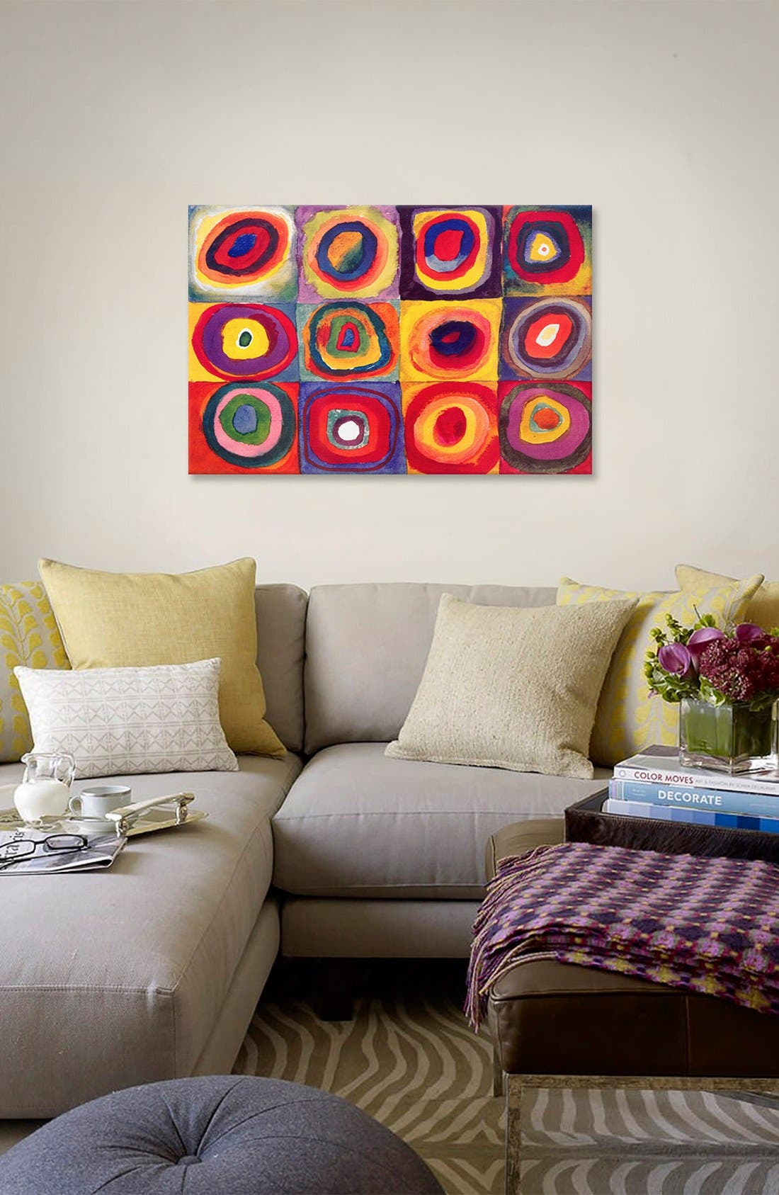Alternate Image 2  - iCanvas 'Squares With Concentric Circles - Wassily Kandinsky' Giclée Print Canvas Art