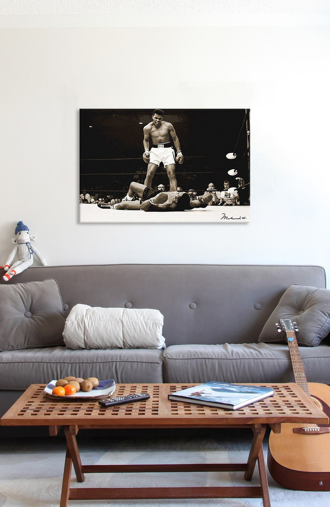 'Muhammad Ali' Giclée Print Canvas Art,                             Alternate thumbnail 2, color,                             Black