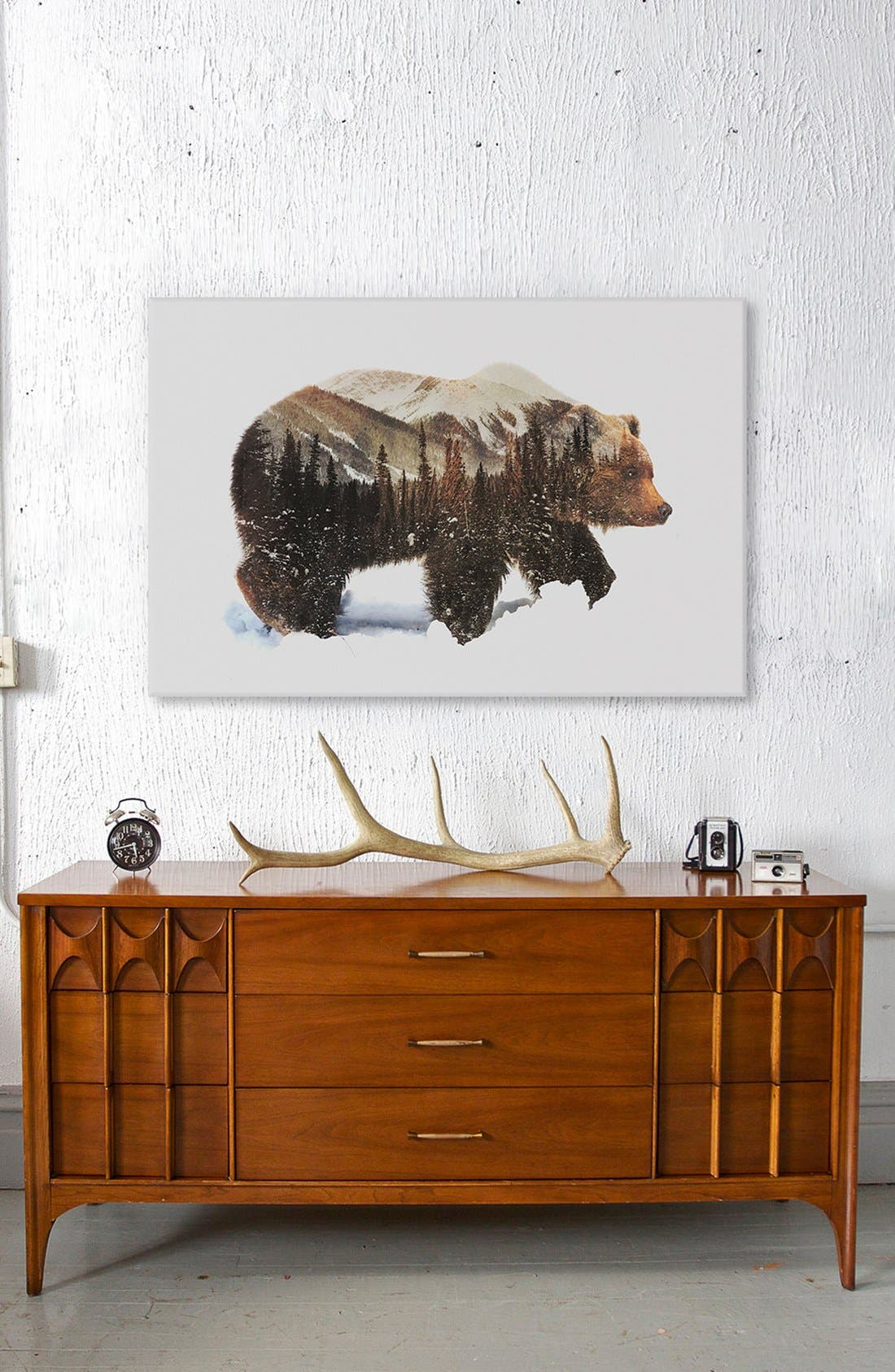 Alternate Image 3  - iCanvas 'Arctic Grizzly Bear' Fine Art Print