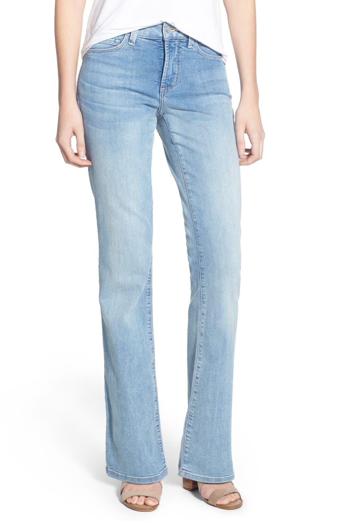'Barbara' Stretch Bootcut Jeans,                             Main thumbnail 1, color,                             Manhattan