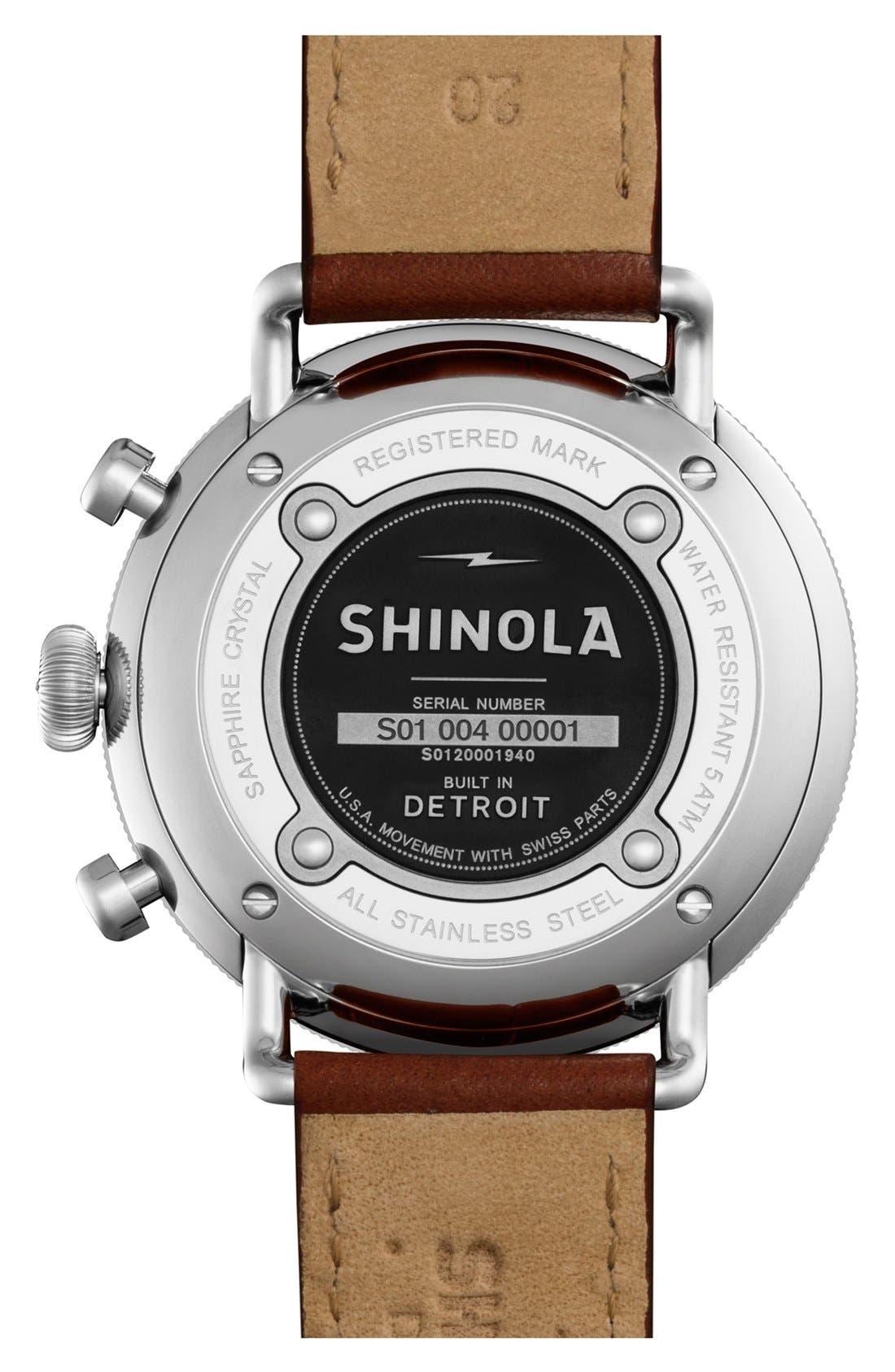 Alternate Image 2  - Shinola The Canfield Chrono Leather Strap Watch, 43mm