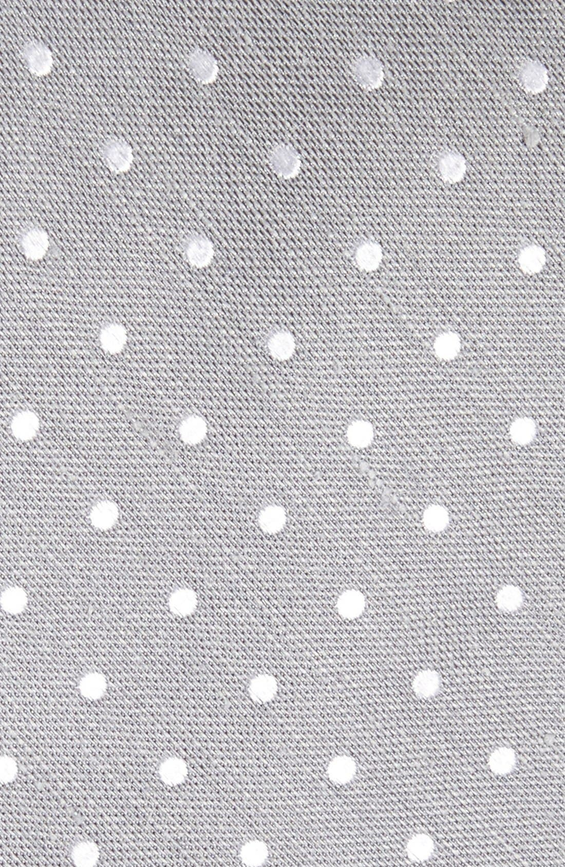Dot Silk & Linen Tie,                             Alternate thumbnail 2, color,                             Silver