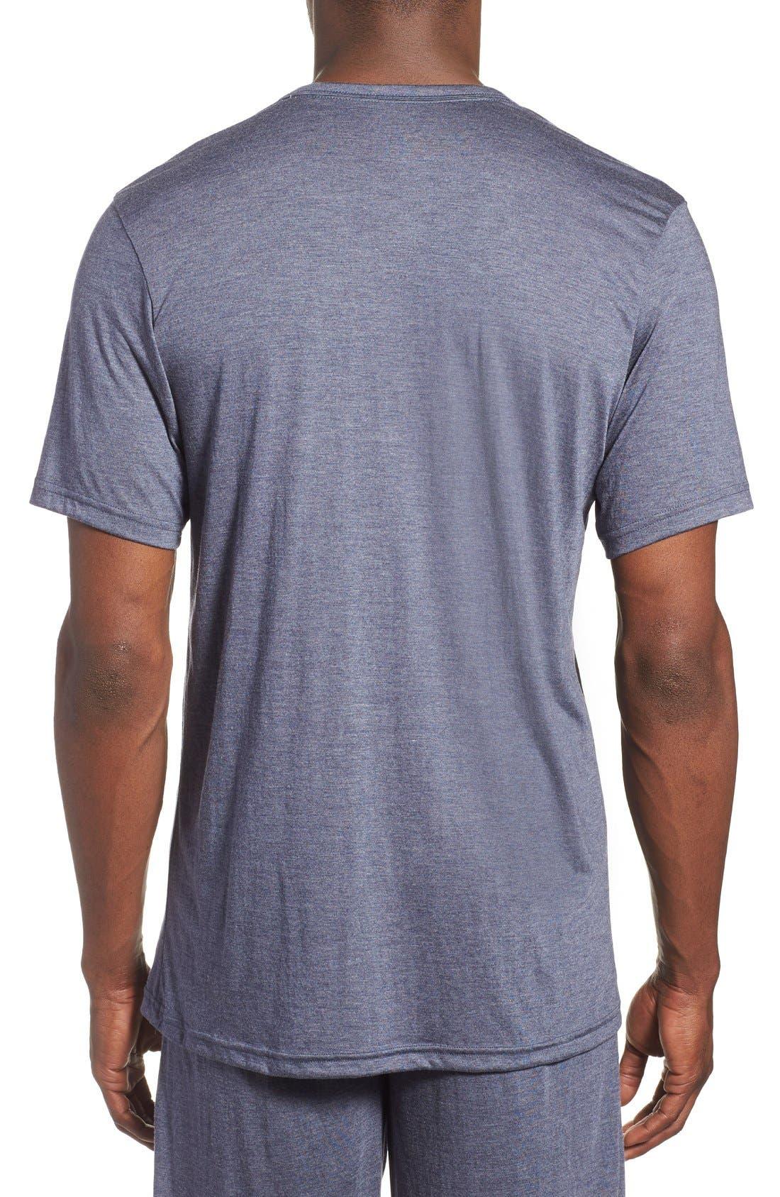 Alternate Image 2  - Calvin Klein 'Liquid Lounge' V-Neck T-Shirt