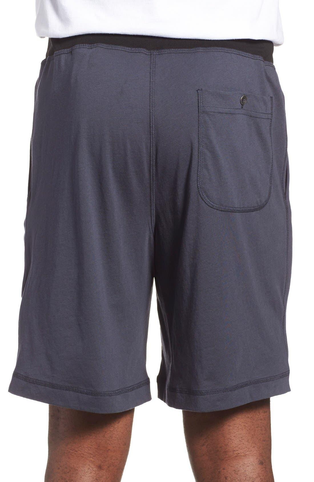 Peruvian Pima Cotton Lounge Shorts,                             Alternate thumbnail 2, color,                             Ink