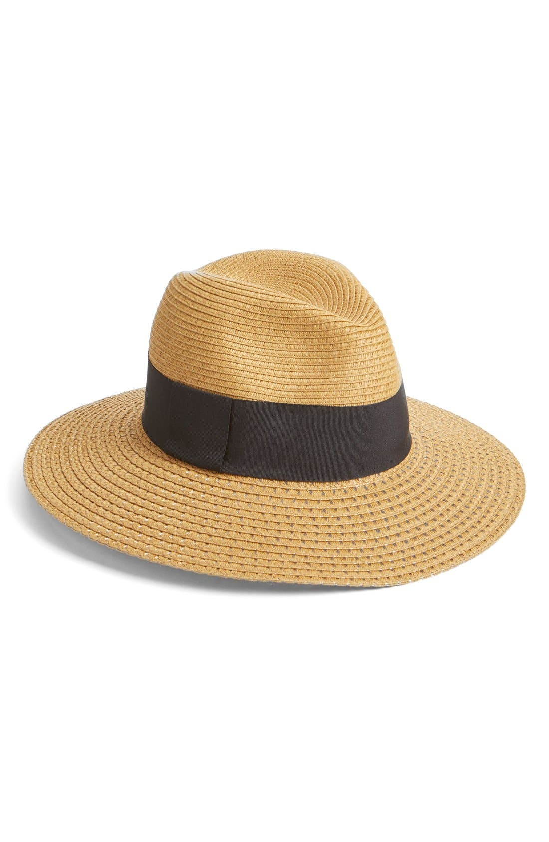 Main Image - Nordstrom Wide Brim Straw Panama Hat