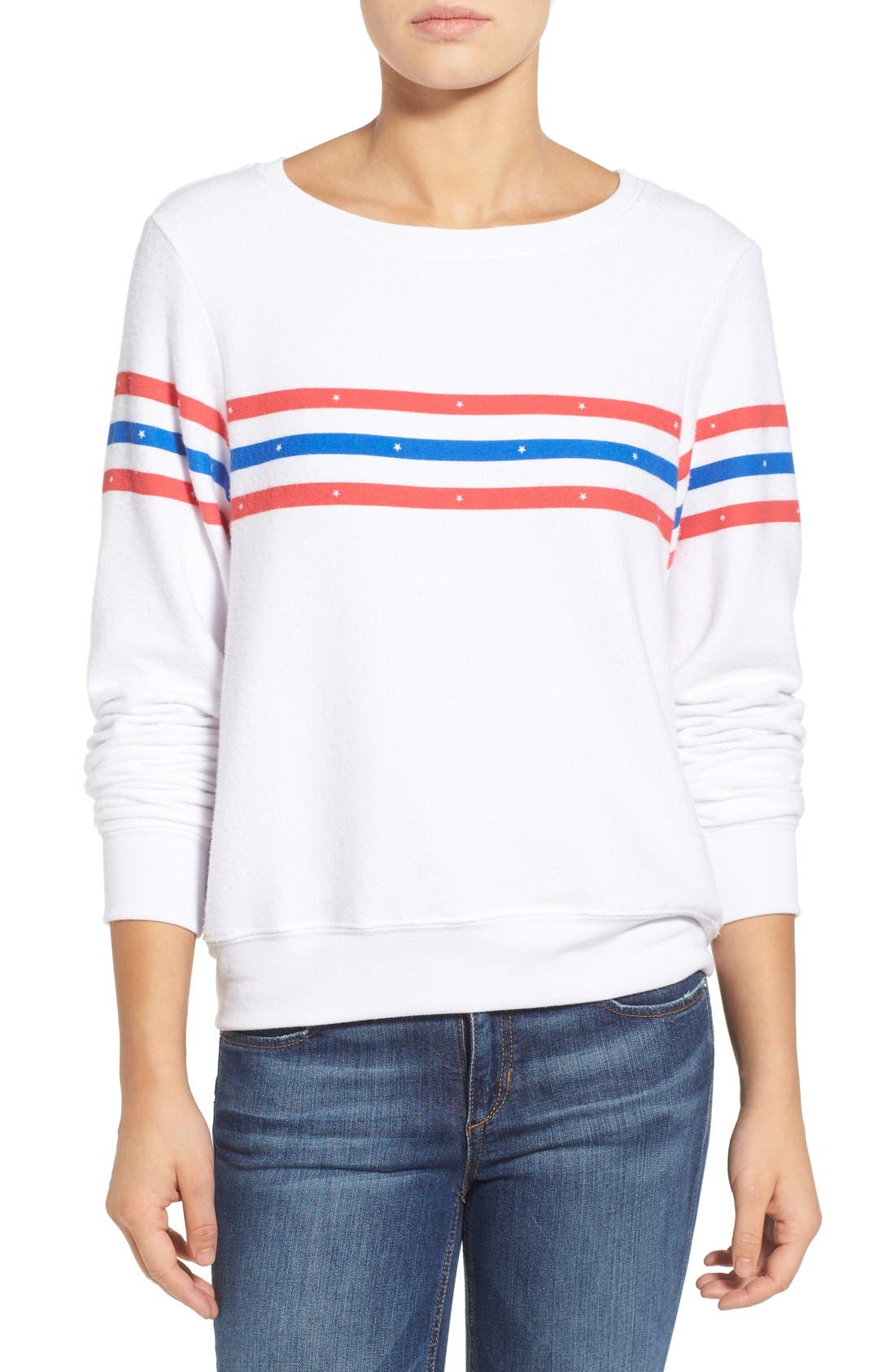 Main Image - Wildfox 'US Gladiator' Stripe Pullover