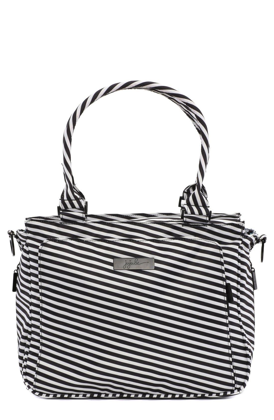 'Be Classy - Onyx Collection' Messenger Diaper Bag,                         Main,                         color, Black Magic