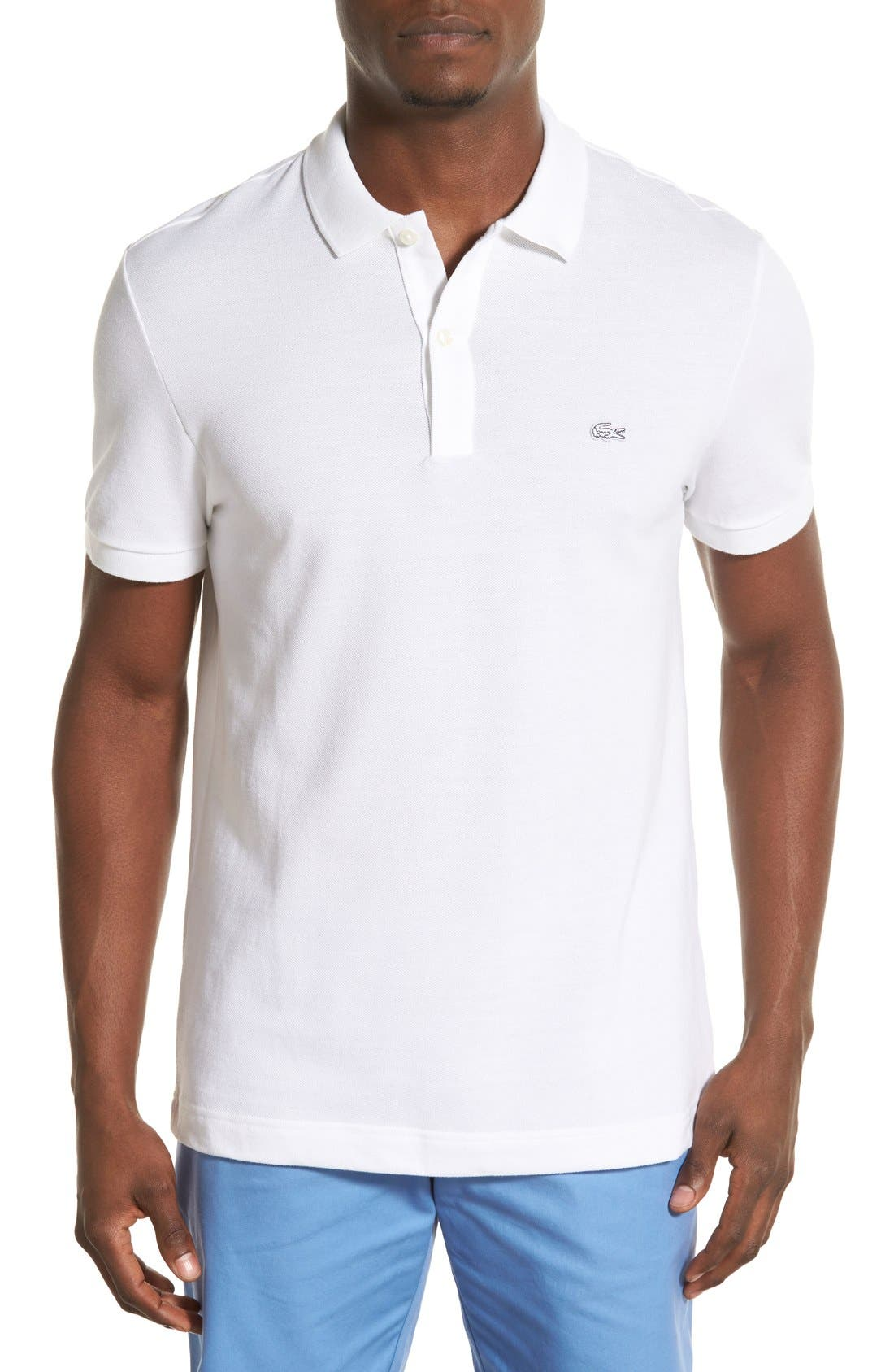 Lacoste 'White Croc' Regular Fit Piqué Polo (Nordstrom Exclusive)