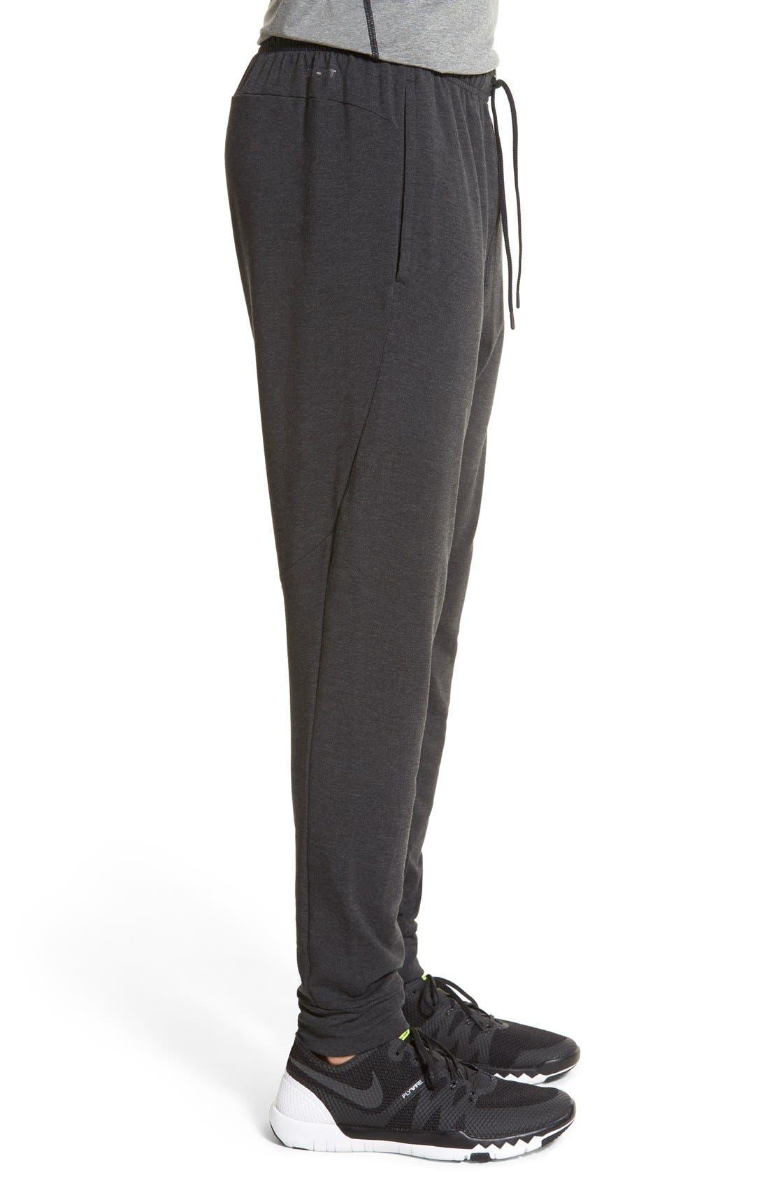 Dri-FIT Fleece Training Pants,                             Alternate thumbnail 3, color,                             Black/ Black