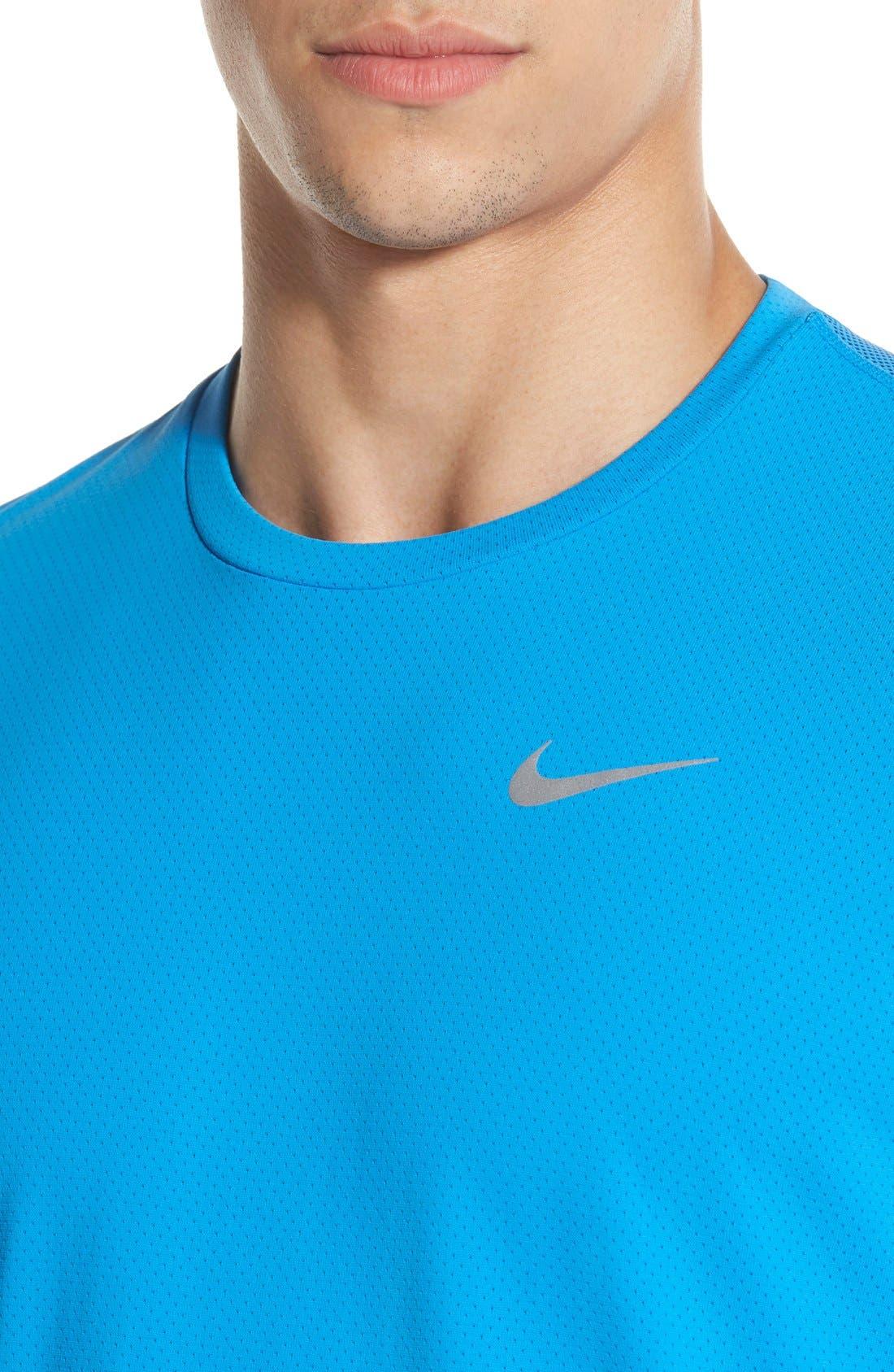 Alternate Image 4  - Nike 'Contour' Mesh Dri-FIT Running T-Shirt