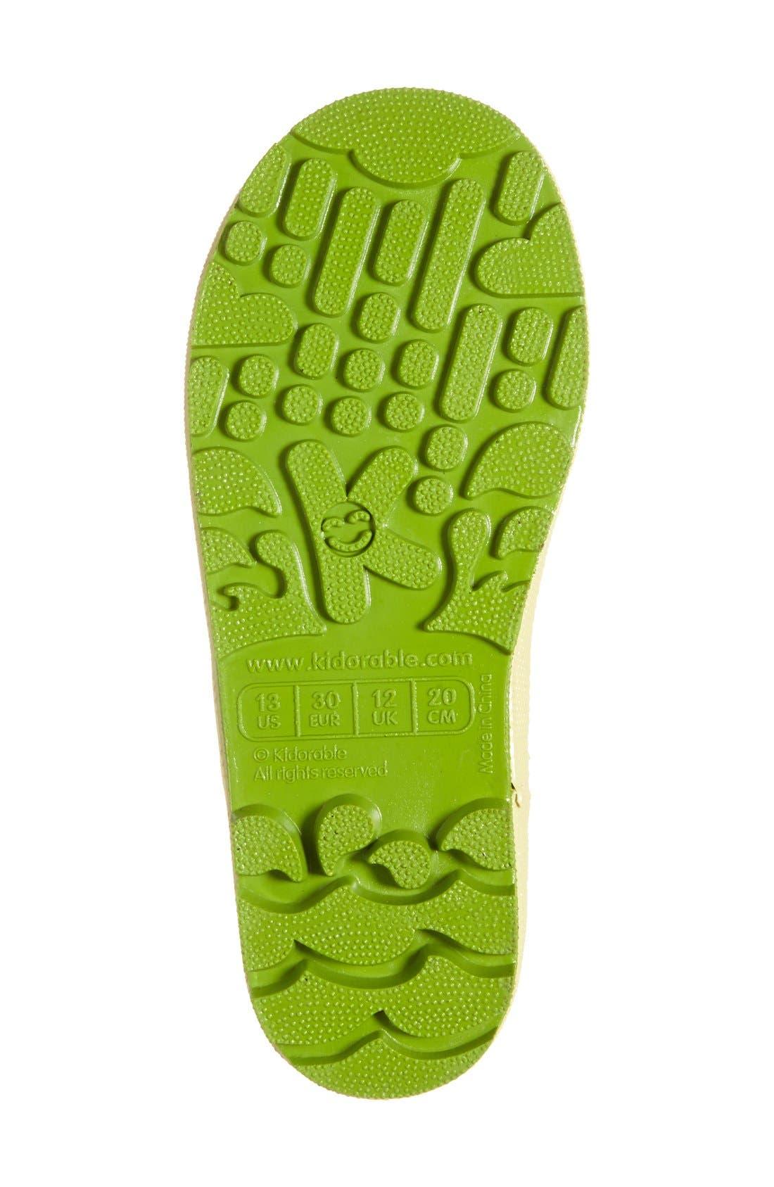 Alternate Image 4  - Kidorable 'Lotus' Waterproof Rain Boot (Walker, Toddler & Little Kid)