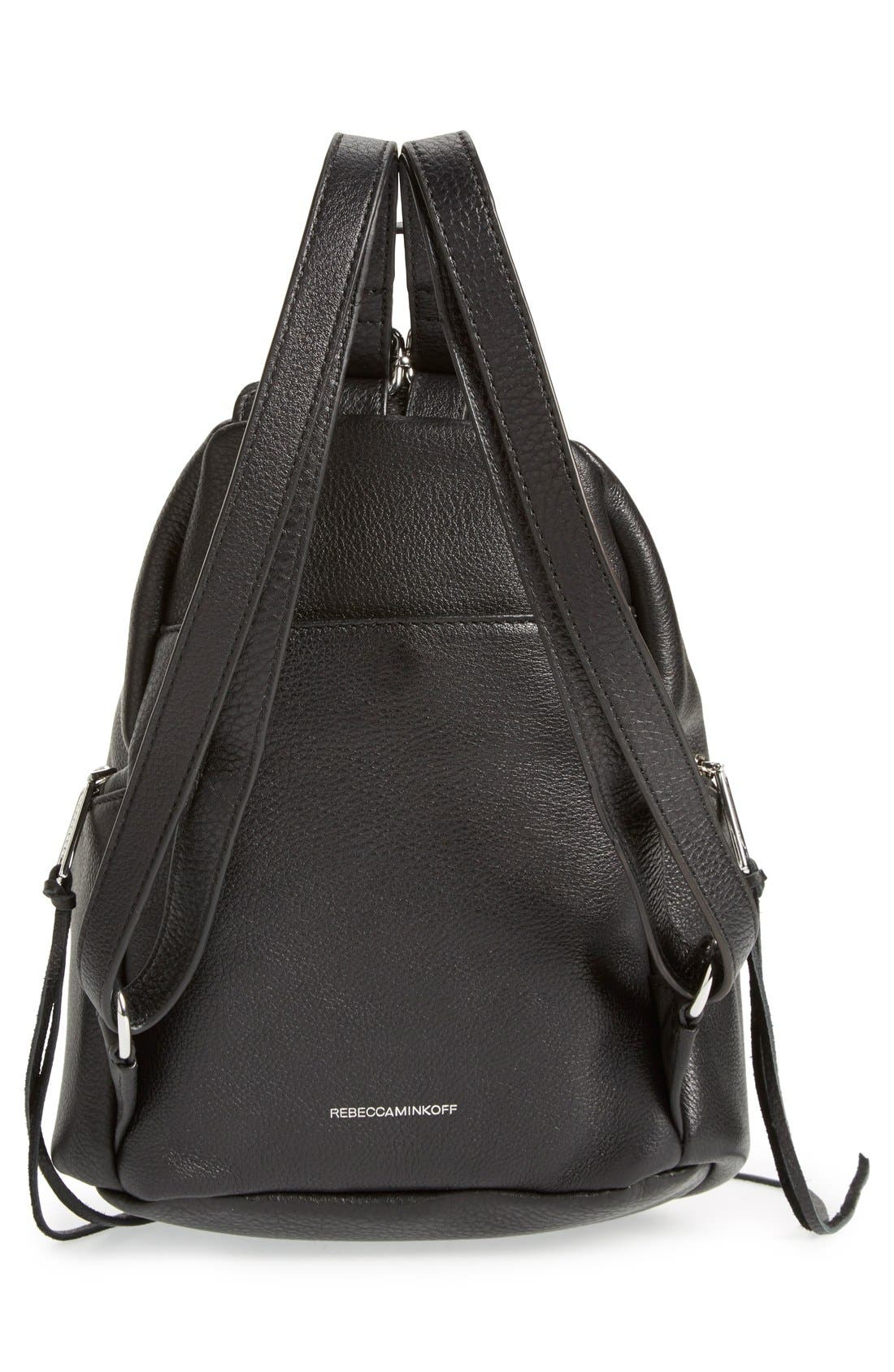 Medium Julian Backpack,                             Alternate thumbnail 3, color,                             Black/ Silver Hrdwr