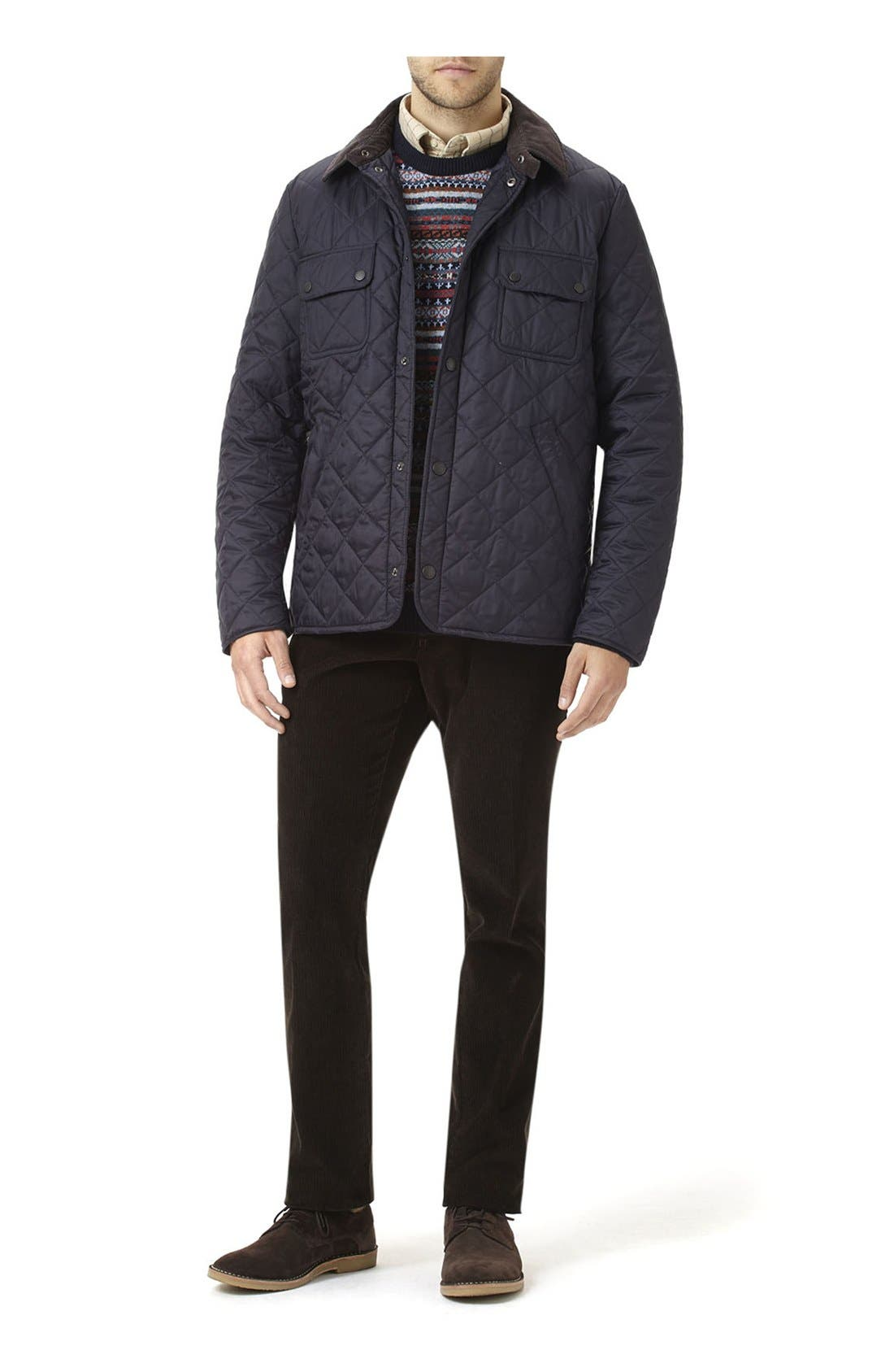 'Tinford' Regular Fit Quilted Jacket,                             Alternate thumbnail 10, color,                             Navy