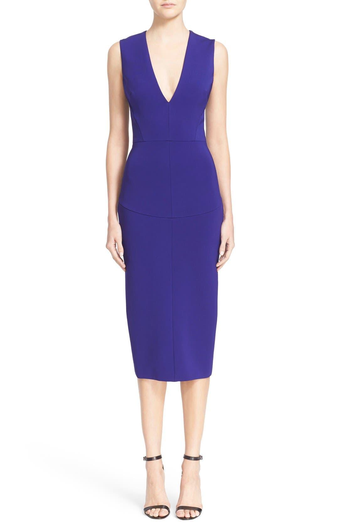 Alternate Image 1 Selected - Victoria Beckham Plunging V-Neck Sheath Dress