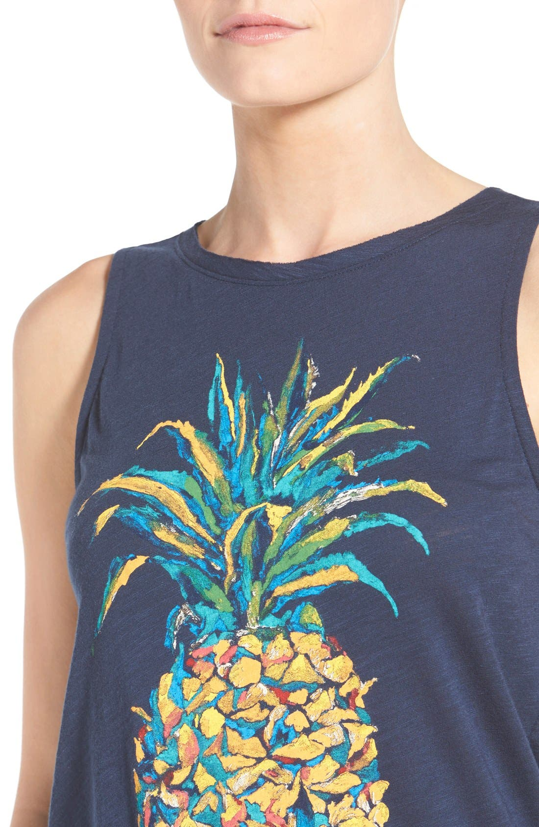 Alternate Image 4  - Lucky Brand Pineapple Graphic Tank