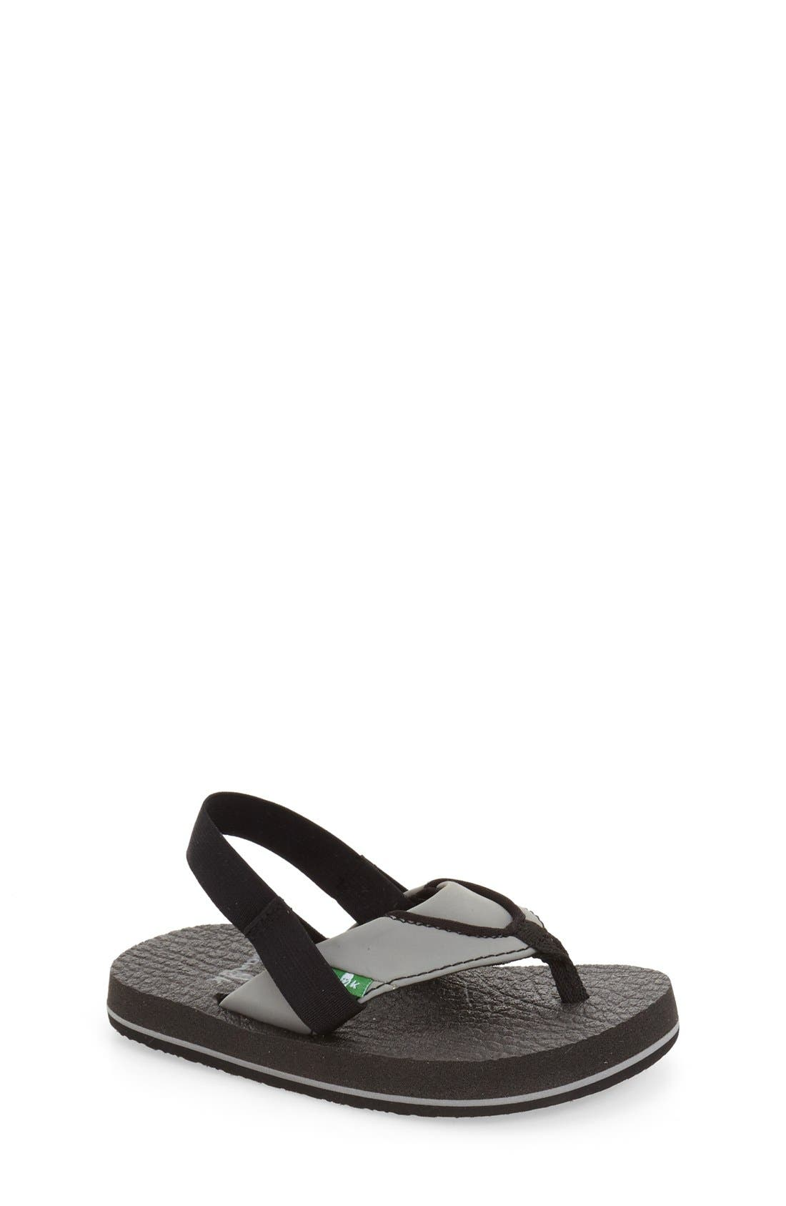 Sanuk 'Root Beer' Sandal (Toddler, Little Kid & Big Kid)