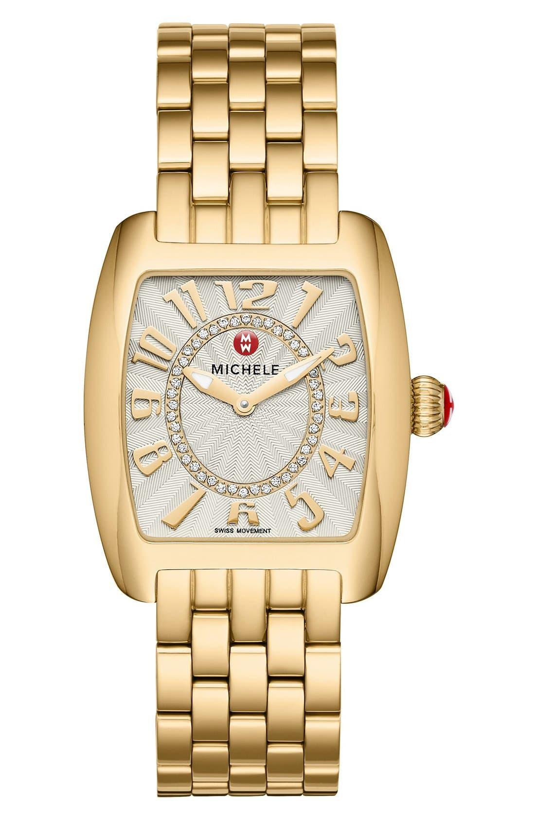 Urban Mini 16mm Gold Plated Bracelet Watchband,                             Alternate thumbnail 2, color,                             Gold