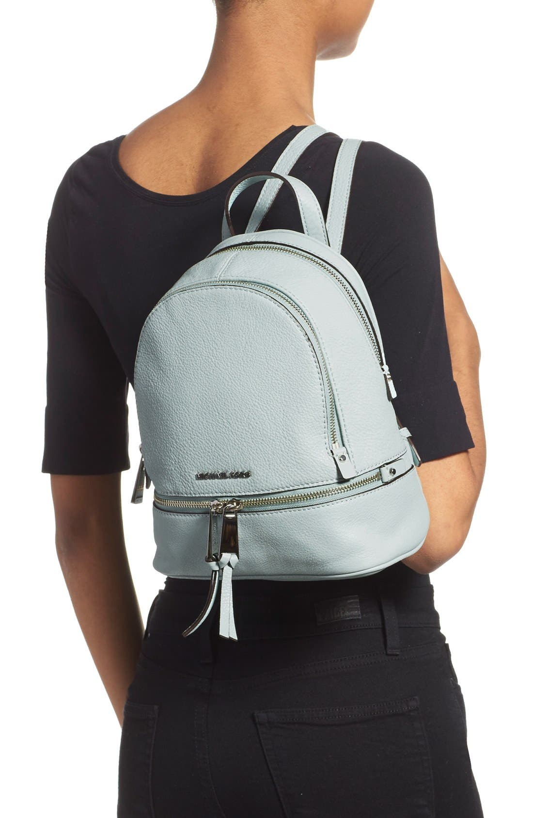 Alternate Image 2  - MICHAEL Michael Kors 'Extra Small Rhea' Leather Backpack