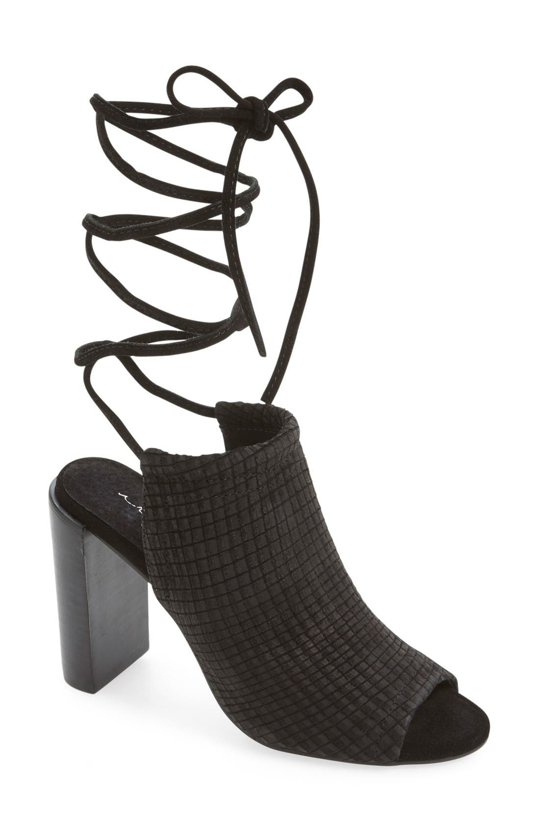 Alternate Image 1 Selected - Urge Footwear 'Eve' Lace-Up Mule Sandal (Women)