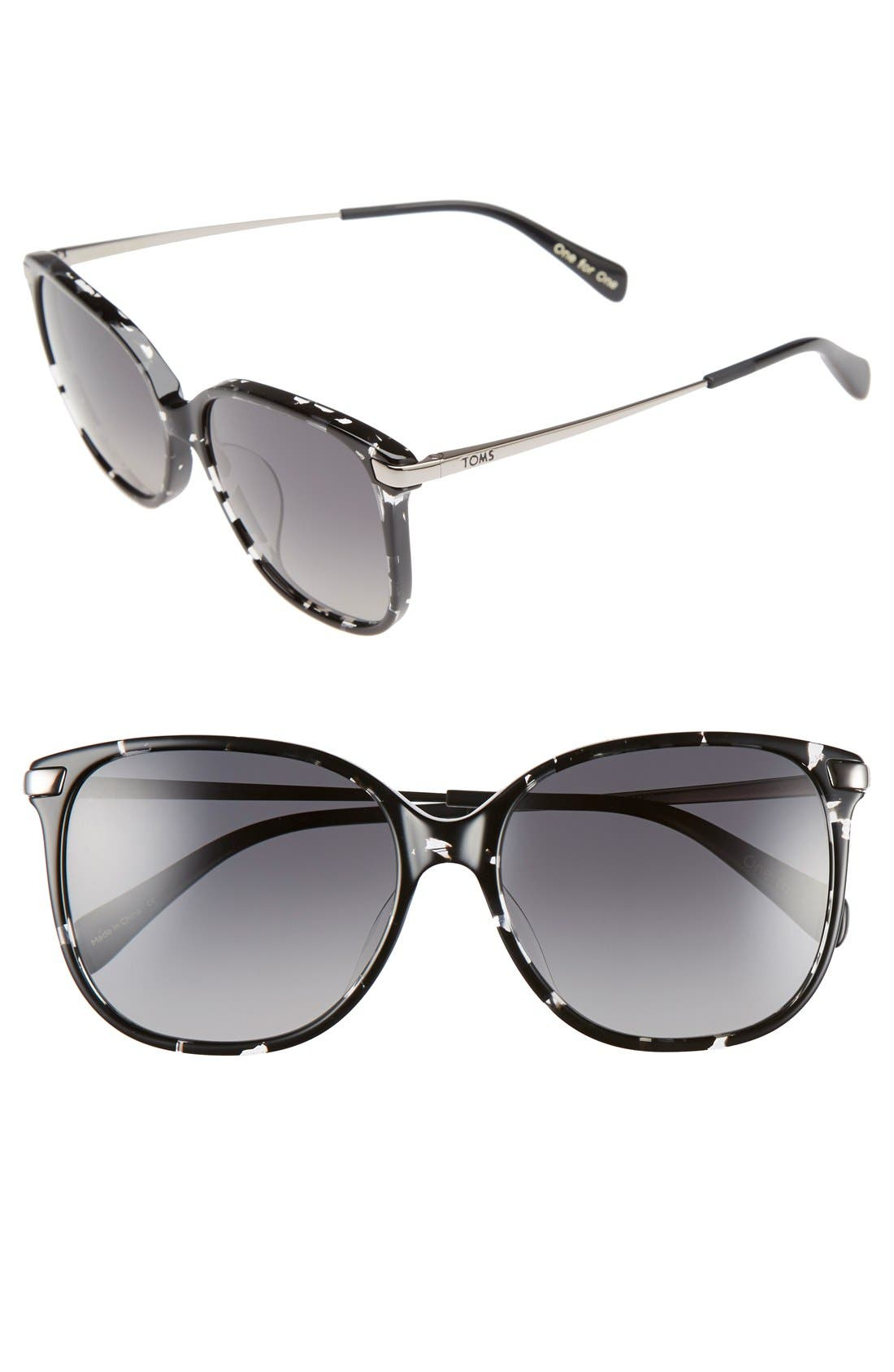 Alternate Image 1 Selected - TOMS 'Sandela' 56mm Sunglasses
