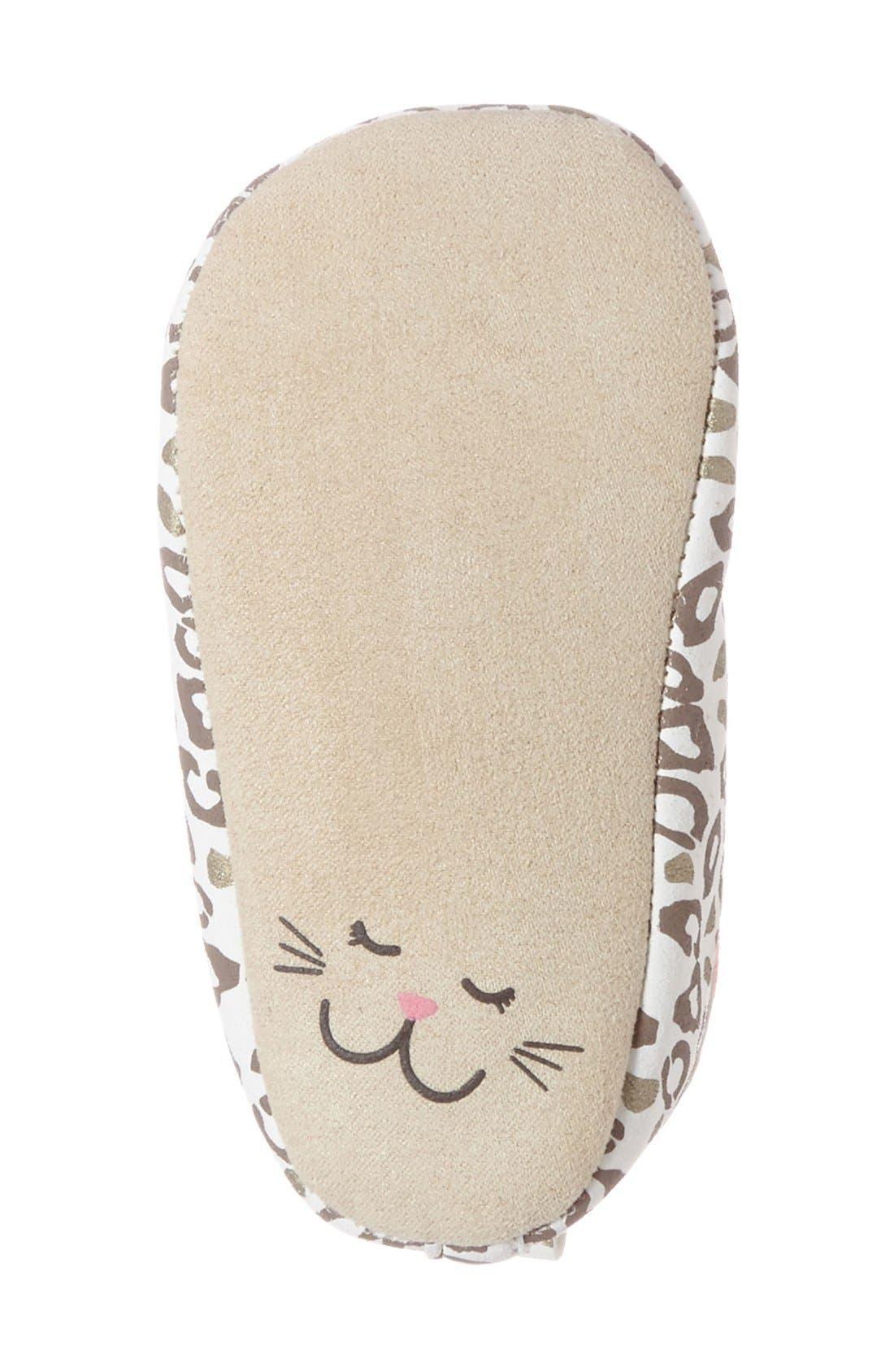 Alternate Image 4  - Rosie Pope 'Playful Leopard' Crib Shoe (Baby)